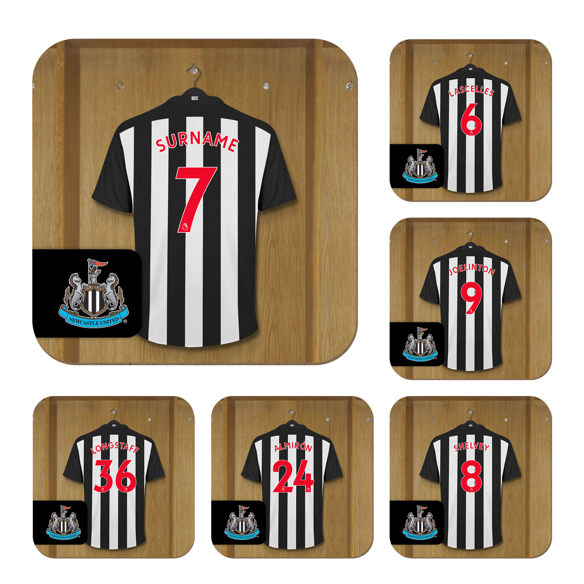 Newcastle United FC Dressing Room Coasters