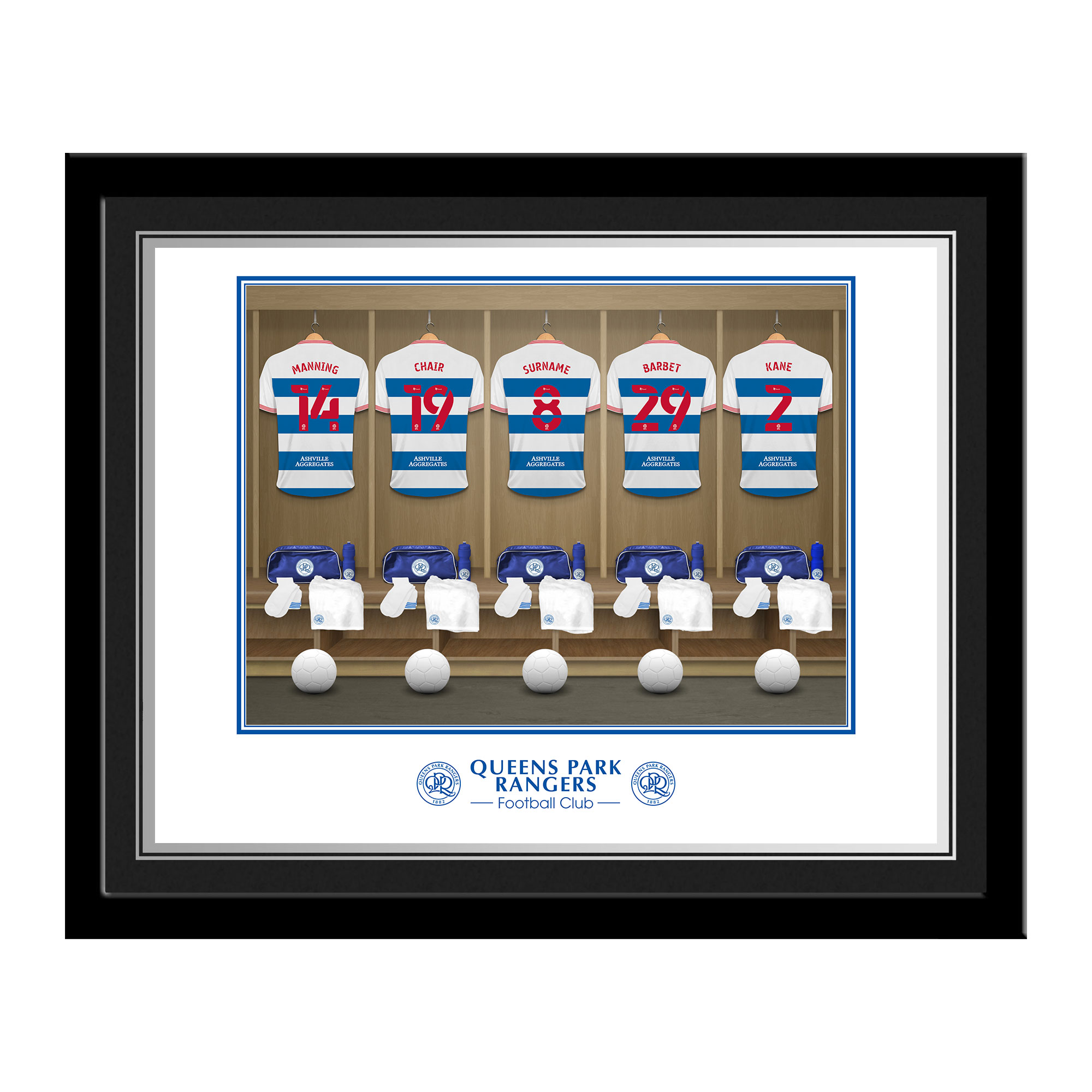 Queens Park Rangers FC Dressing Room Photo Framed