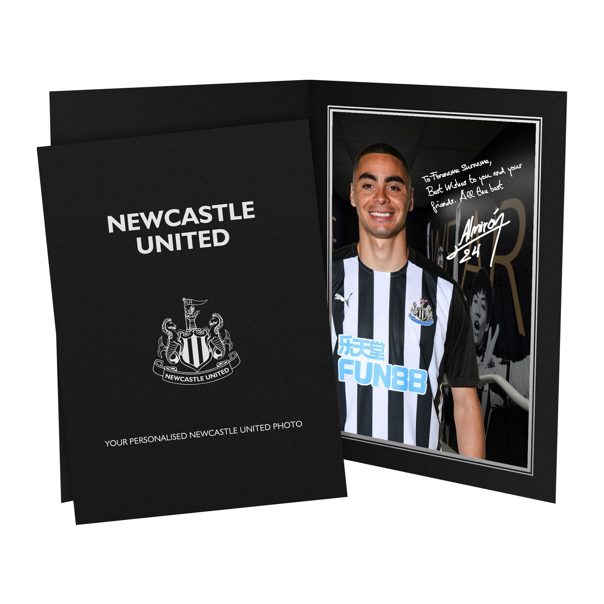 Newcastle United FC Almiron Autograph Photo Folder