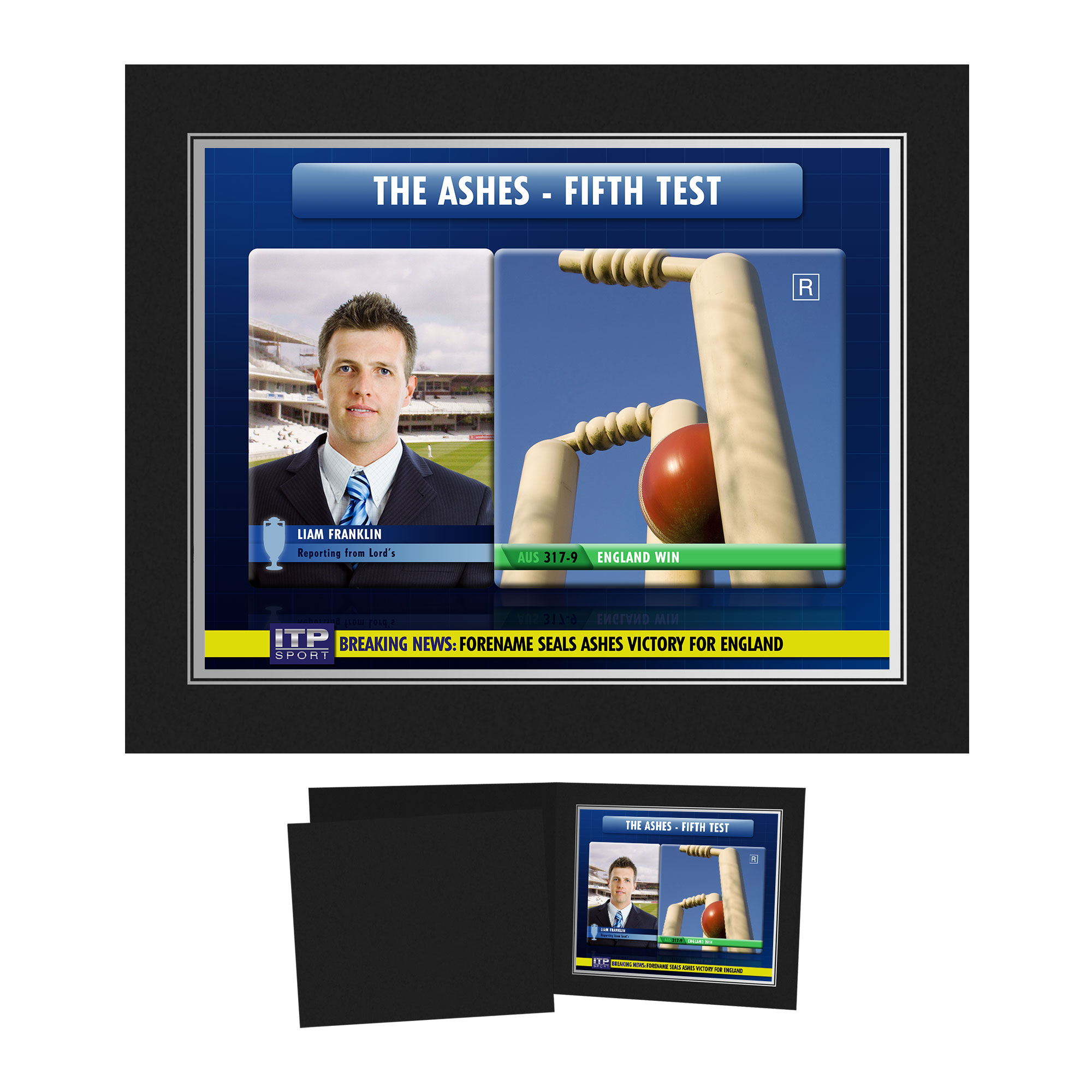 Personalised Cricket Photo Folder