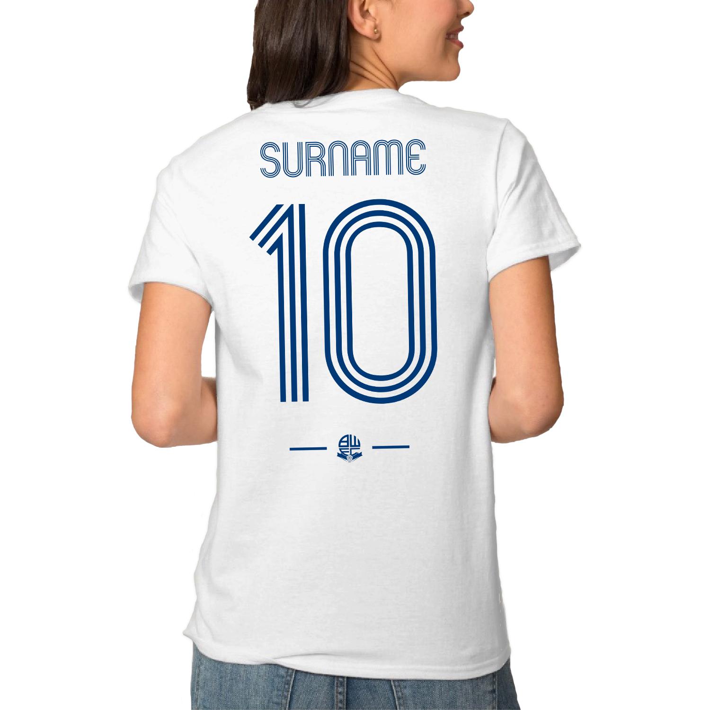 Bolton Wanderers Retro Shirt Ladies T-Shirt