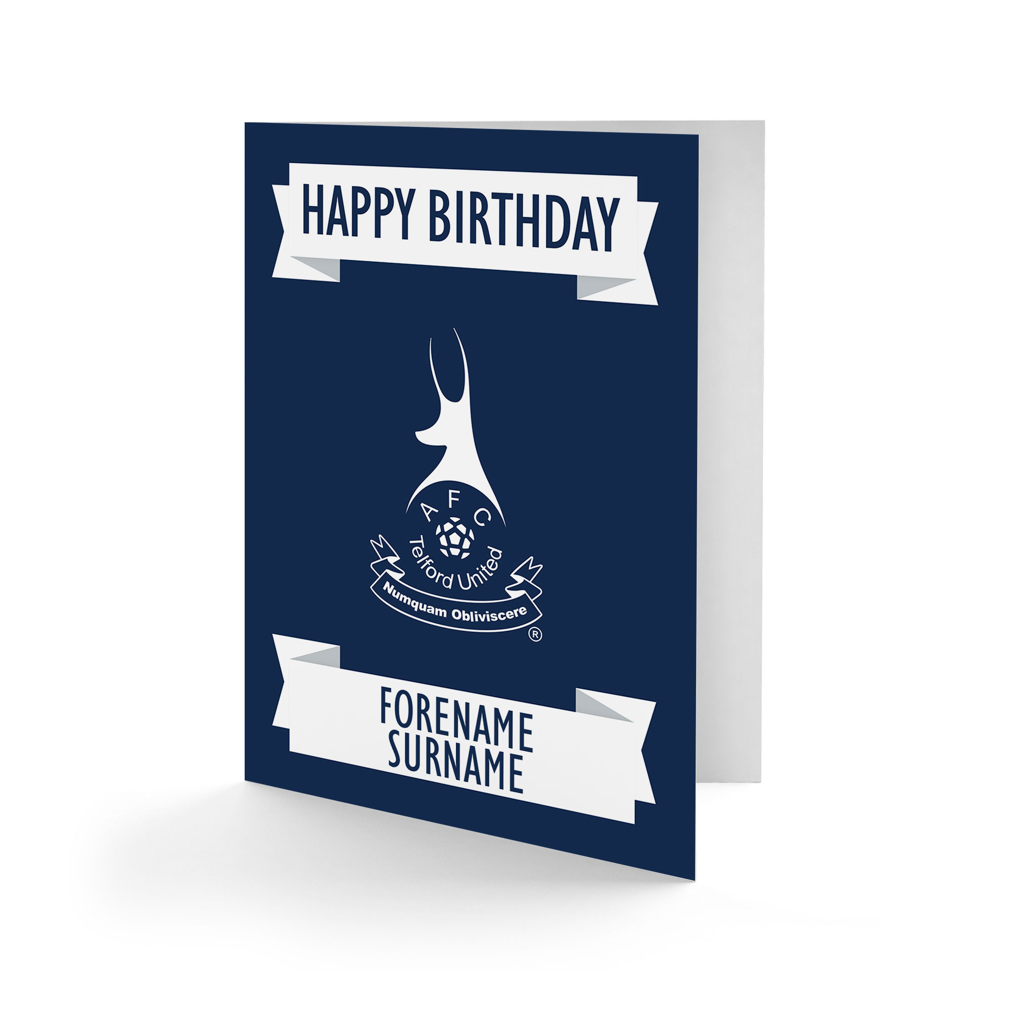 AFC Telford United Crest Birthday Card
