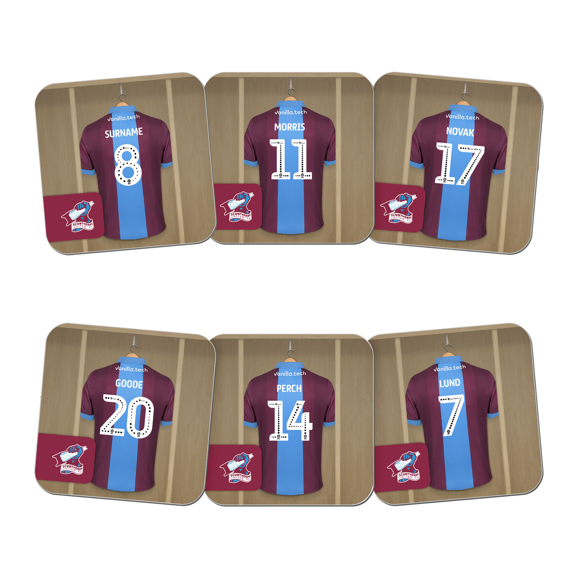 Scunthorpe United FC Dressing Room Coasters