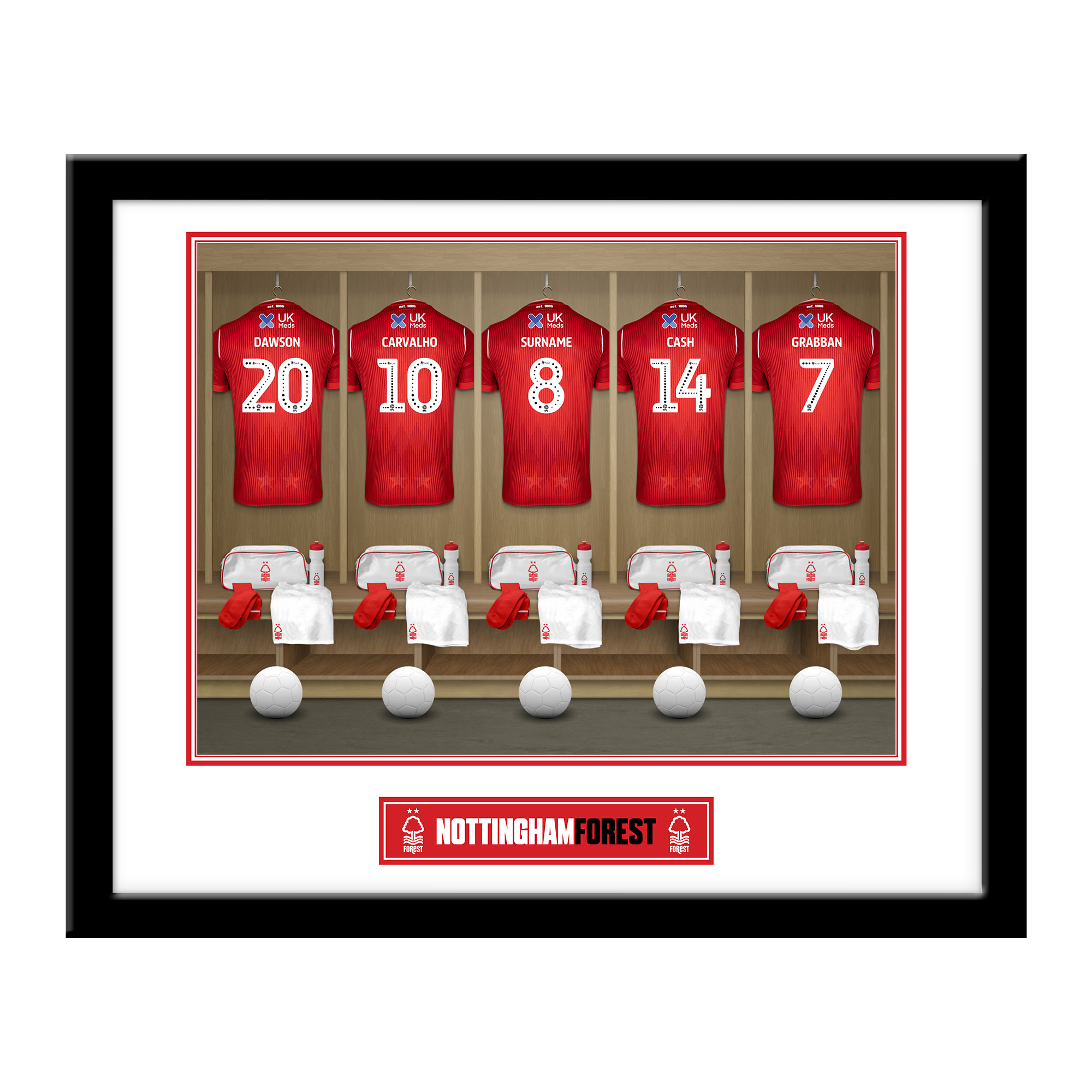 Nottingham Forest FC Dressing Room Framed Print