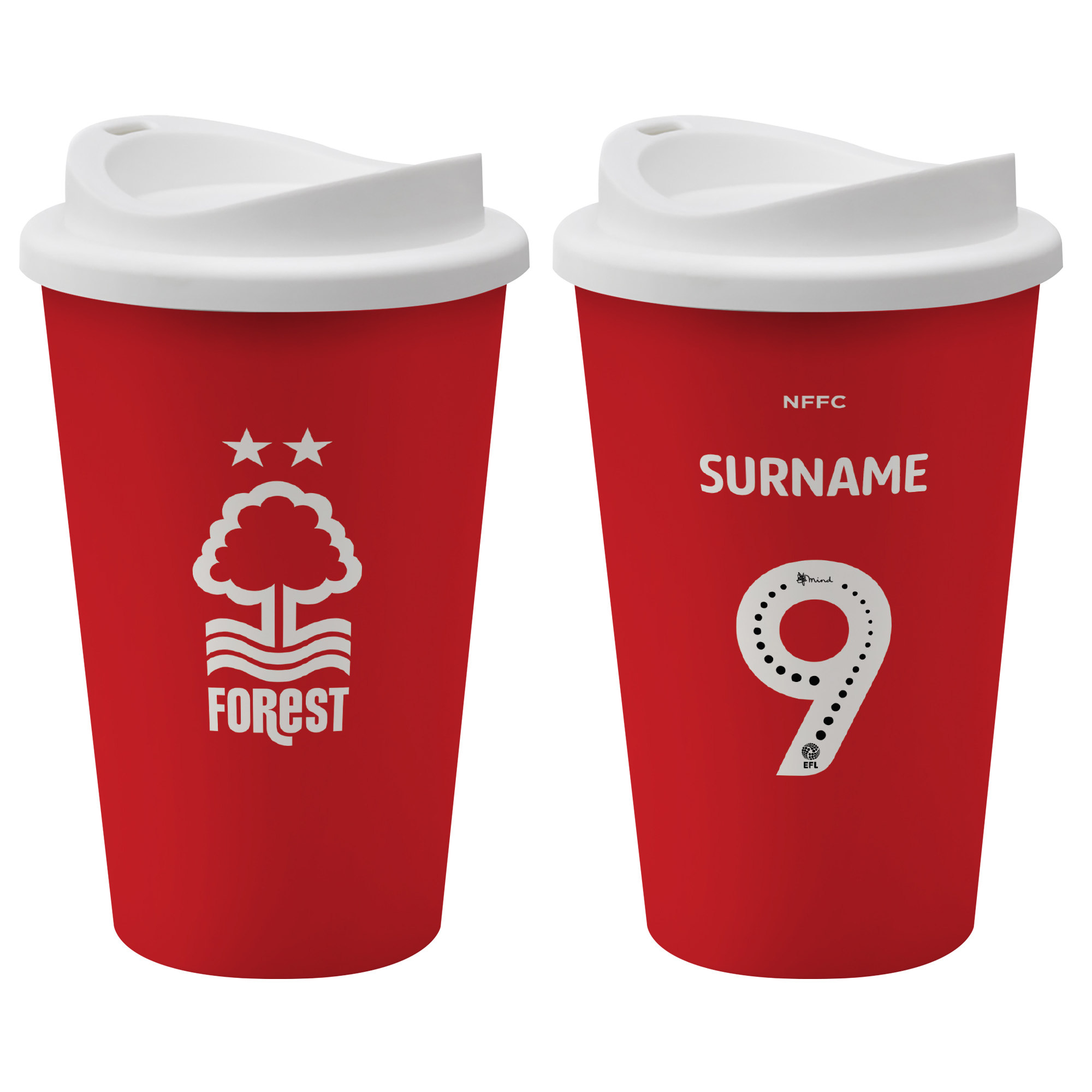 Nottingham Forest FC Back of Shirt Reusable Cup