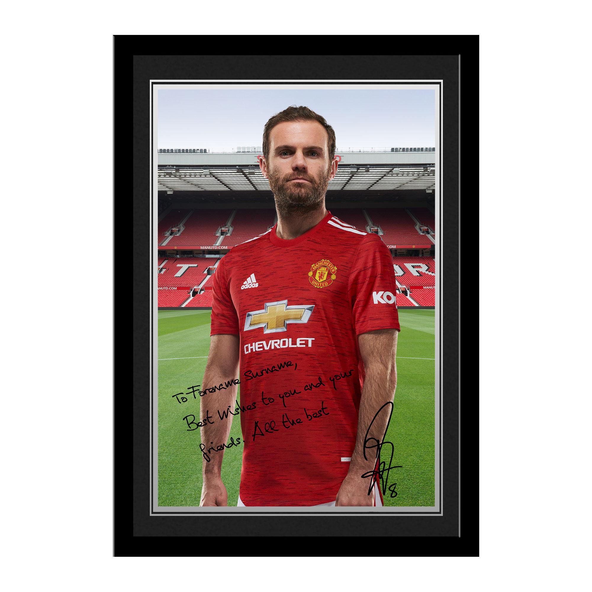 Manchester United FC Mata Autograph Photo Framed