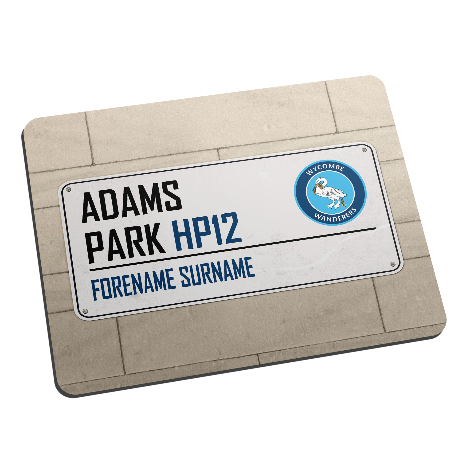 Wycombe Wanderers Street Sign Mouse Mat