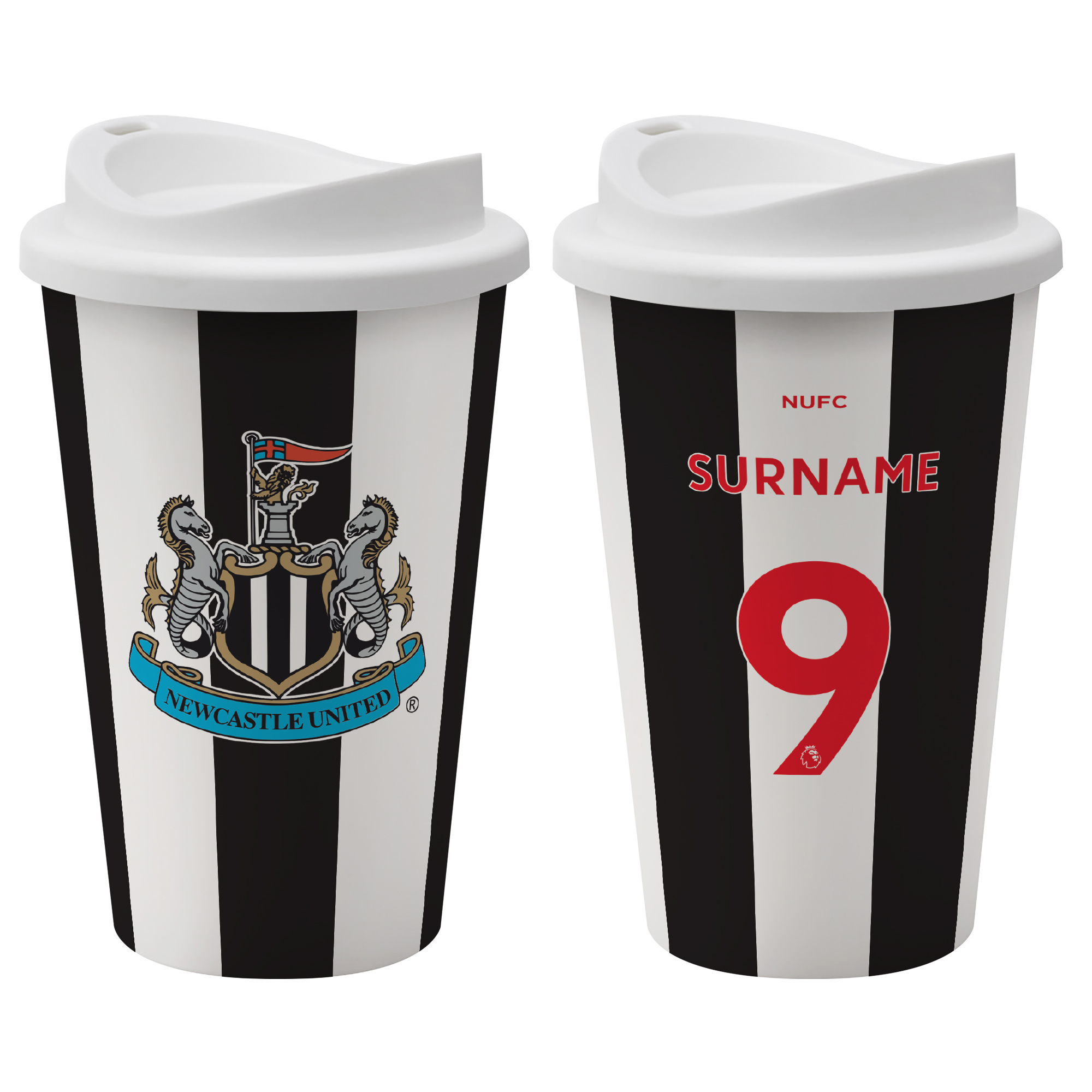 Newcastle United FC Back of Shirt Reusable Cup