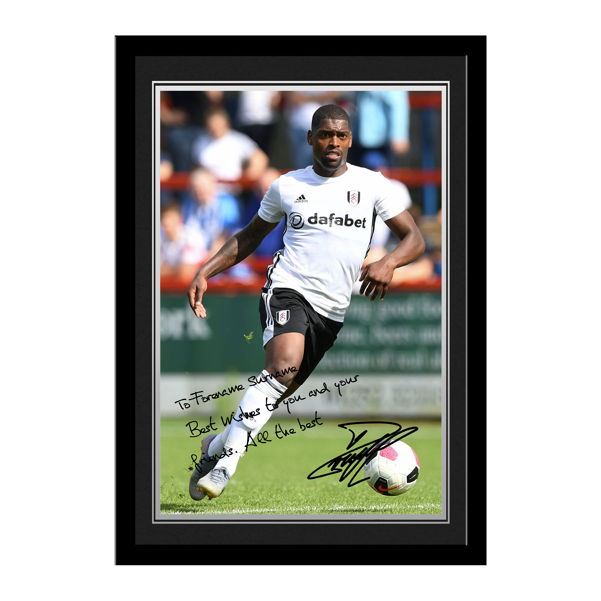 Fulham FC Cavaleiro Autograph Photo Framed