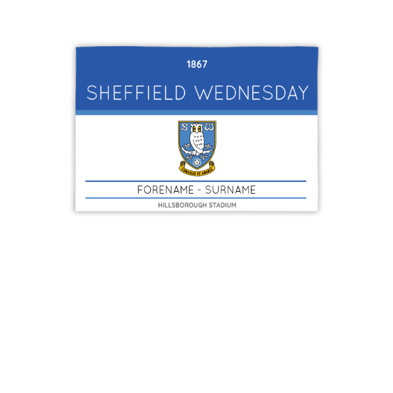 Sheffield Wednesday FC Minimal Ticket 3ft x 2ft Banner