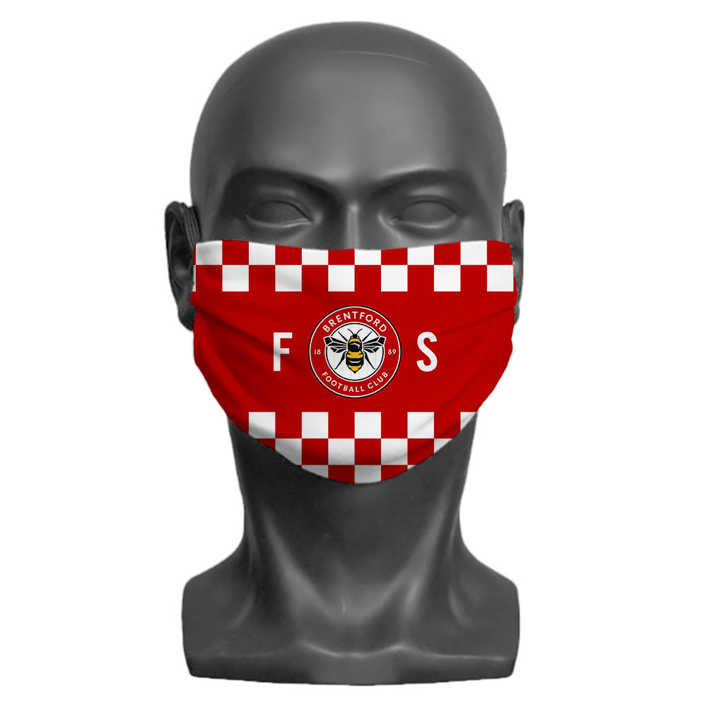 Brentford FC Initials Adult Face Mask (Large)
