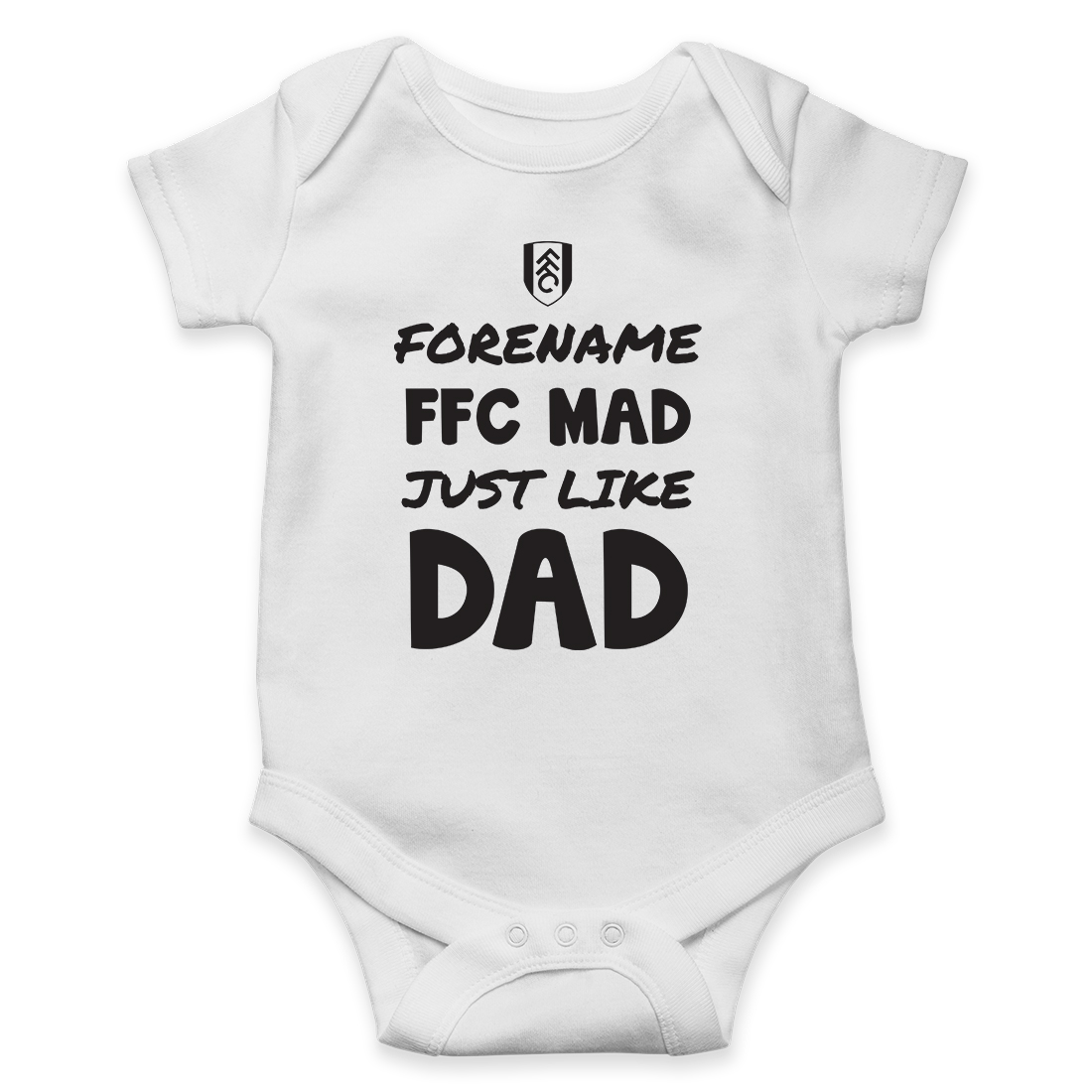 Fulham FC Mad Like Dad Baby Bodysuit