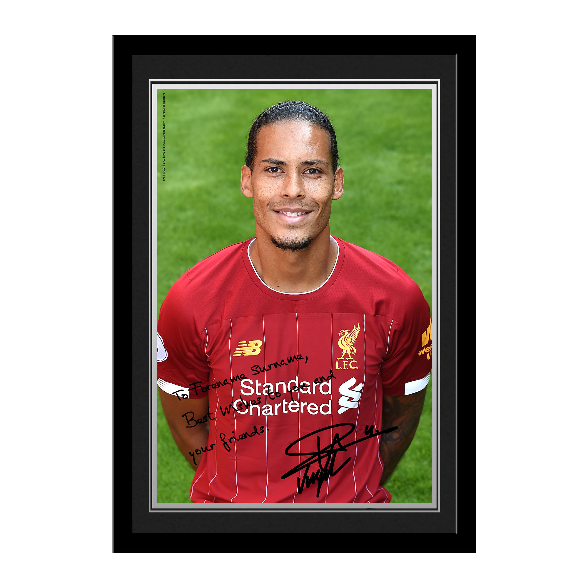 Liverpool FC Van Dijk Autograph Photo Framed