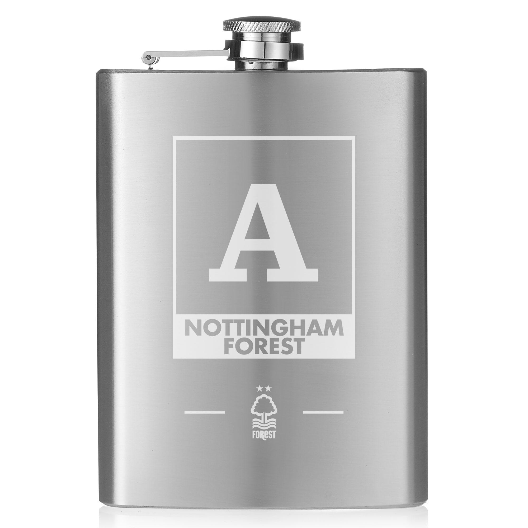 Nottingham Forest FC Monogram Hip Flask
