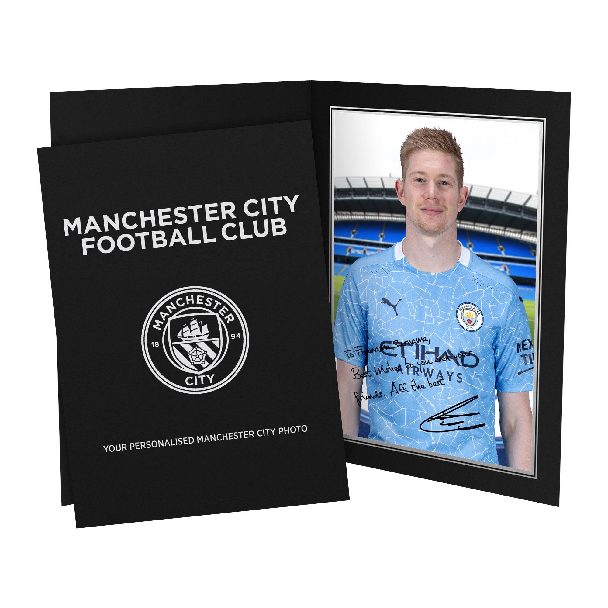 Manchester City FC De Bruyne Autograph Photo Folder
