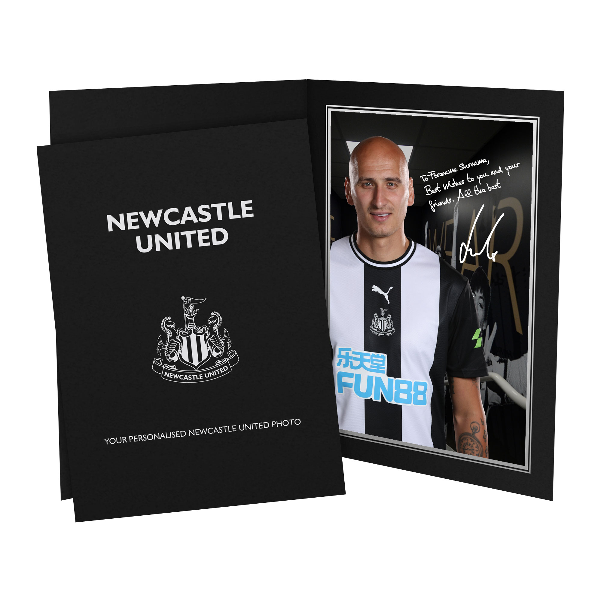 Newcastle United FC Shelvey Autograph Photo Folder