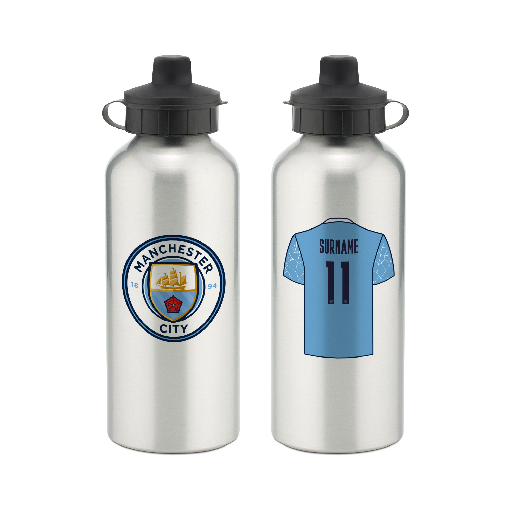 Manchester City FC Aluminium Water Bottle