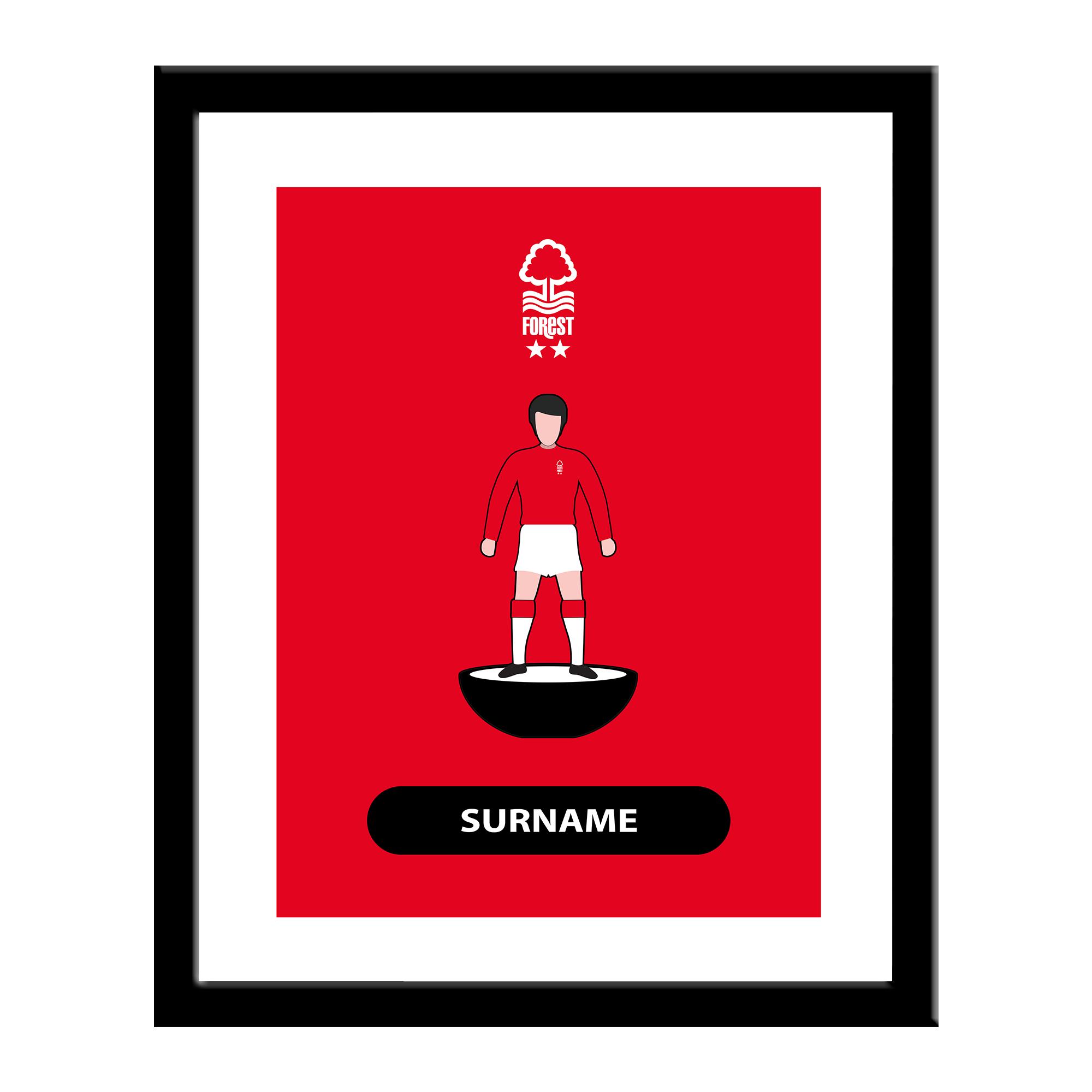 Nottingham Forest FC Player Figure Print