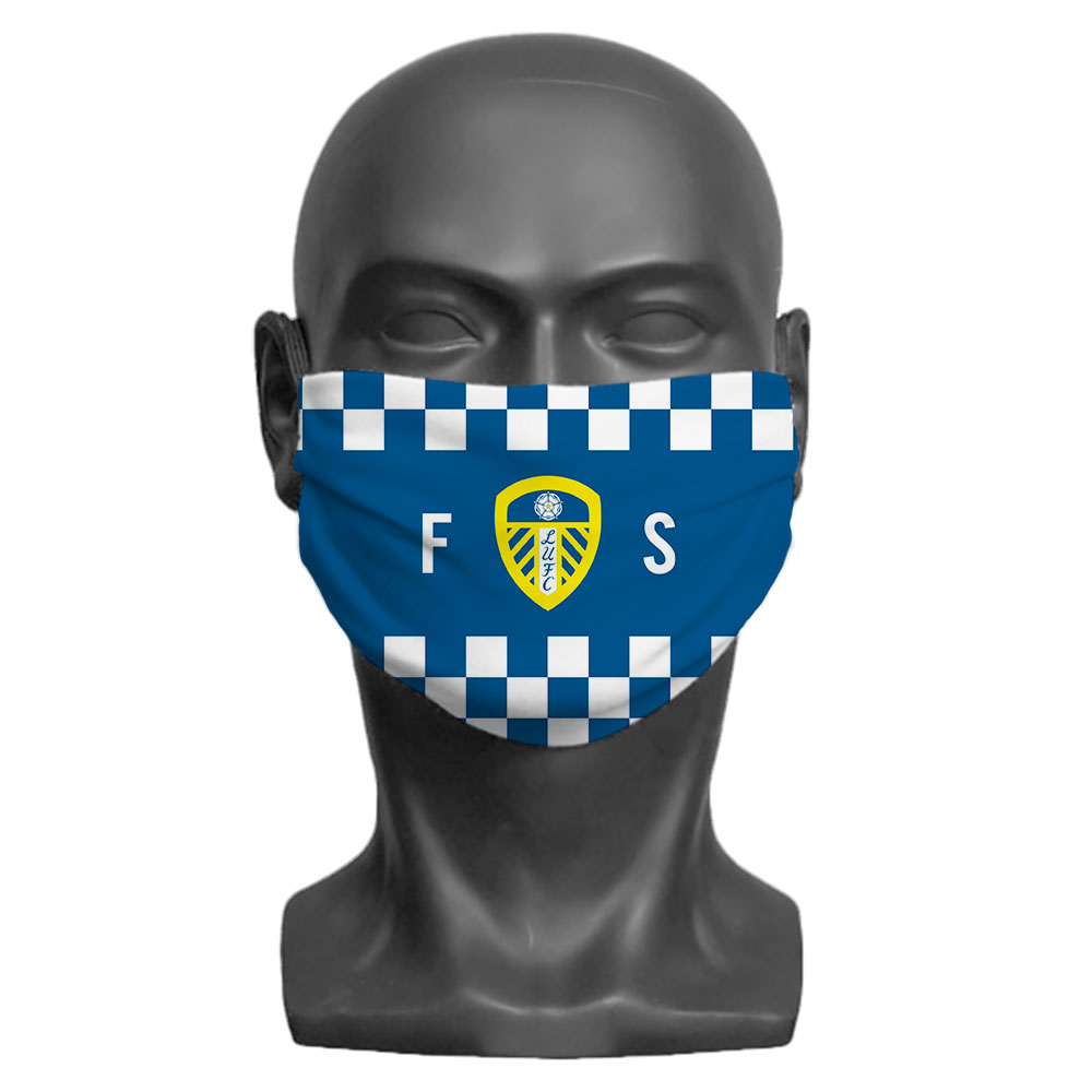 Leeds United FC Initials Adult Face Mask (Large)