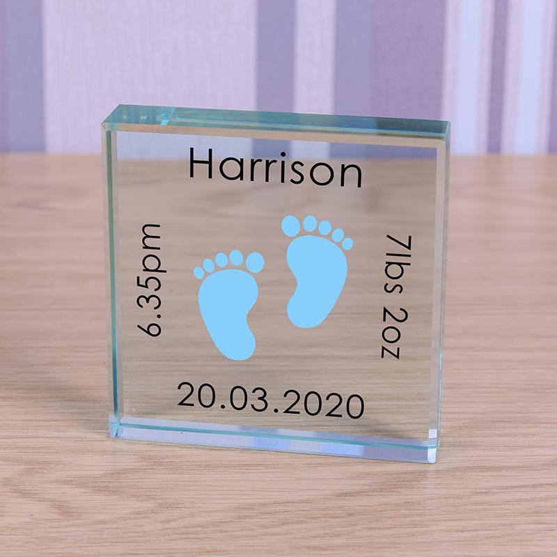 Glass Token - Baby Feet