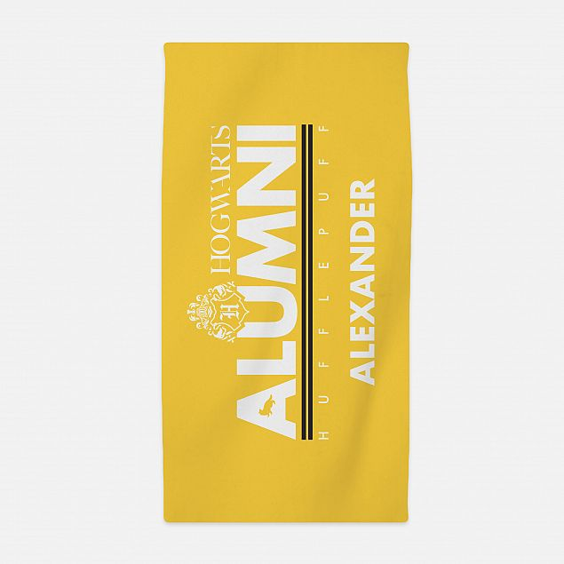 Hufflepuff™ Alumni Personalised Beach Towel