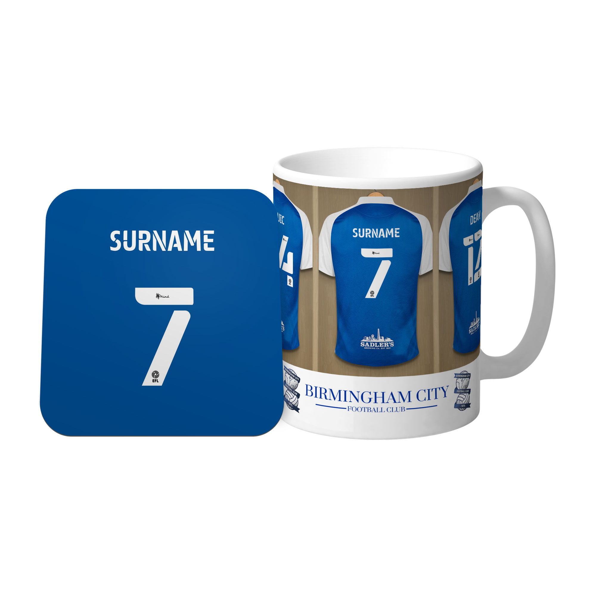 Birmingham City FC Dressing Room Mug & Coaster Set