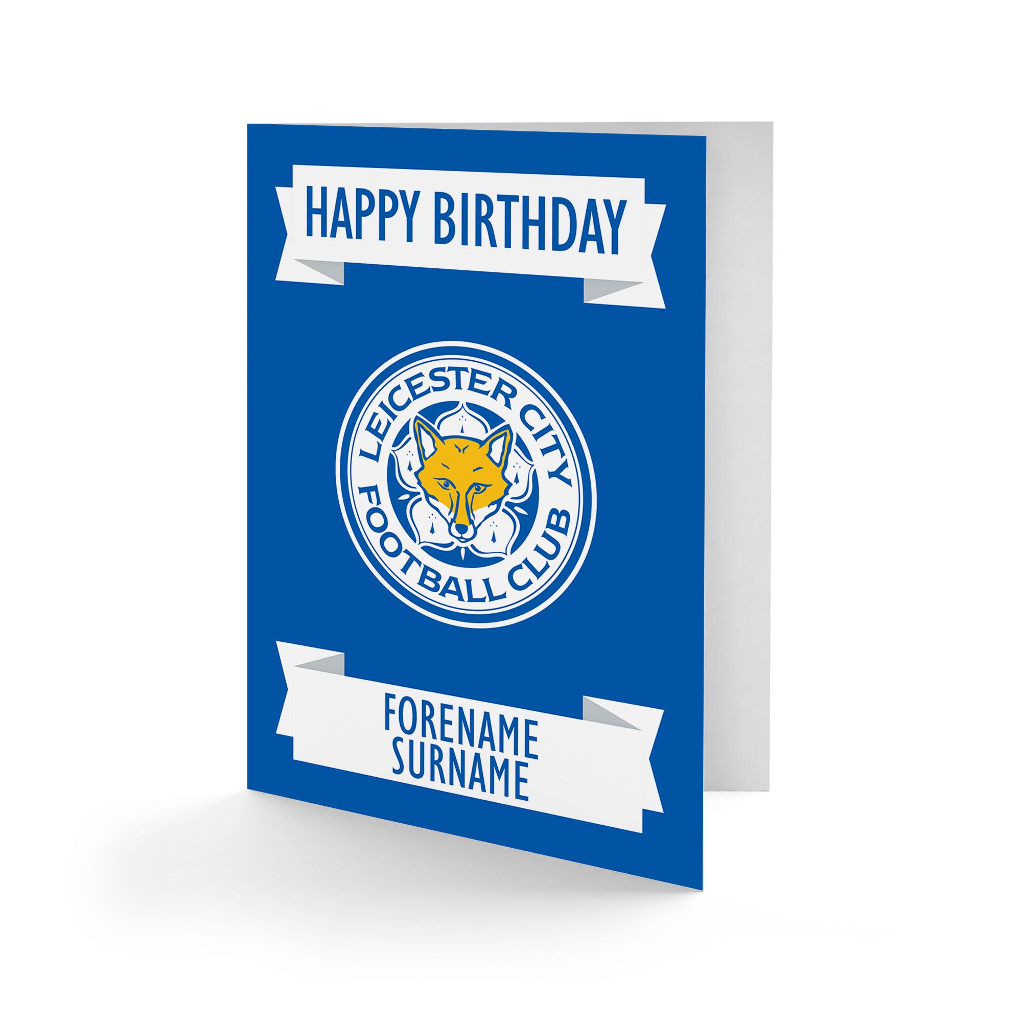 Leicester City FC Crest Birthday Card