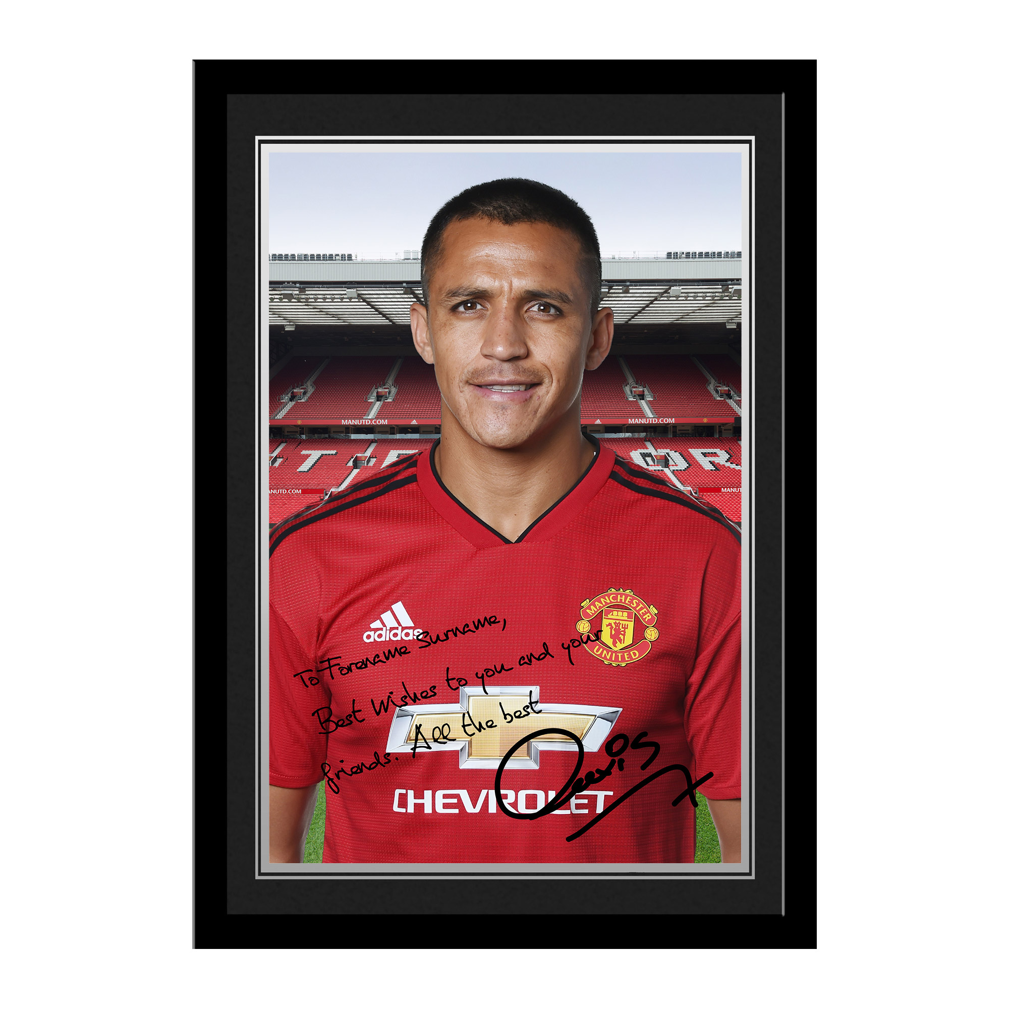 Manchester United FC Sanchez Autograph Photo Framed