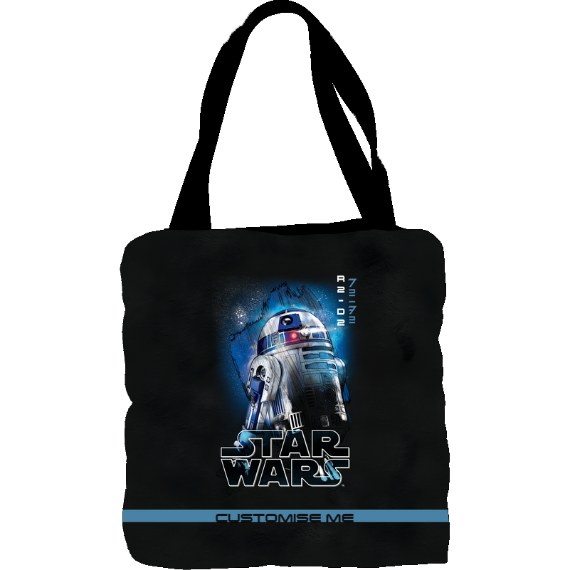 Star Wars R2-D2 Last Jedi Spray Paint Tote Bag