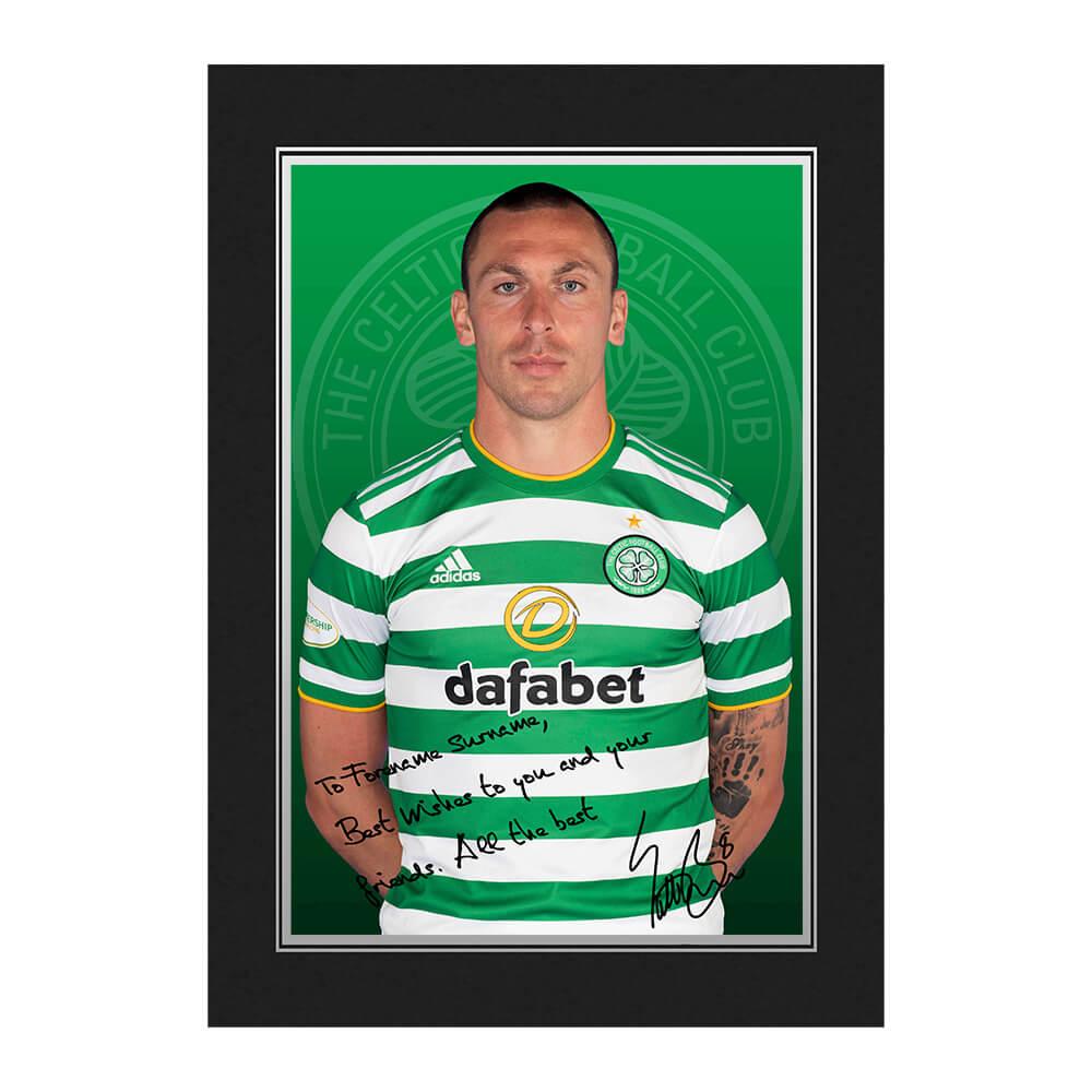 Celtic FC Brown Autograph Photo Folder