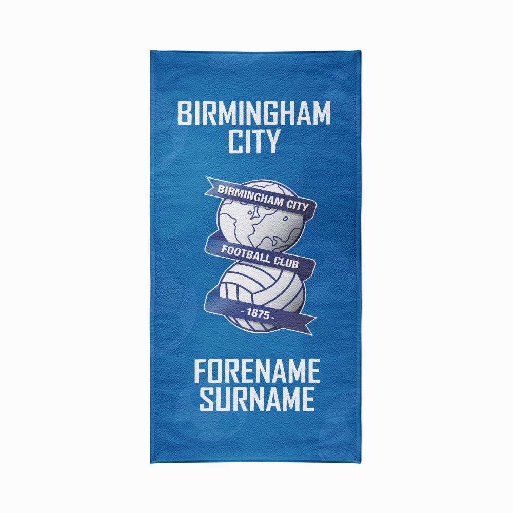 Birmingham City FC Crest Design Towel - 70cm x 140cm