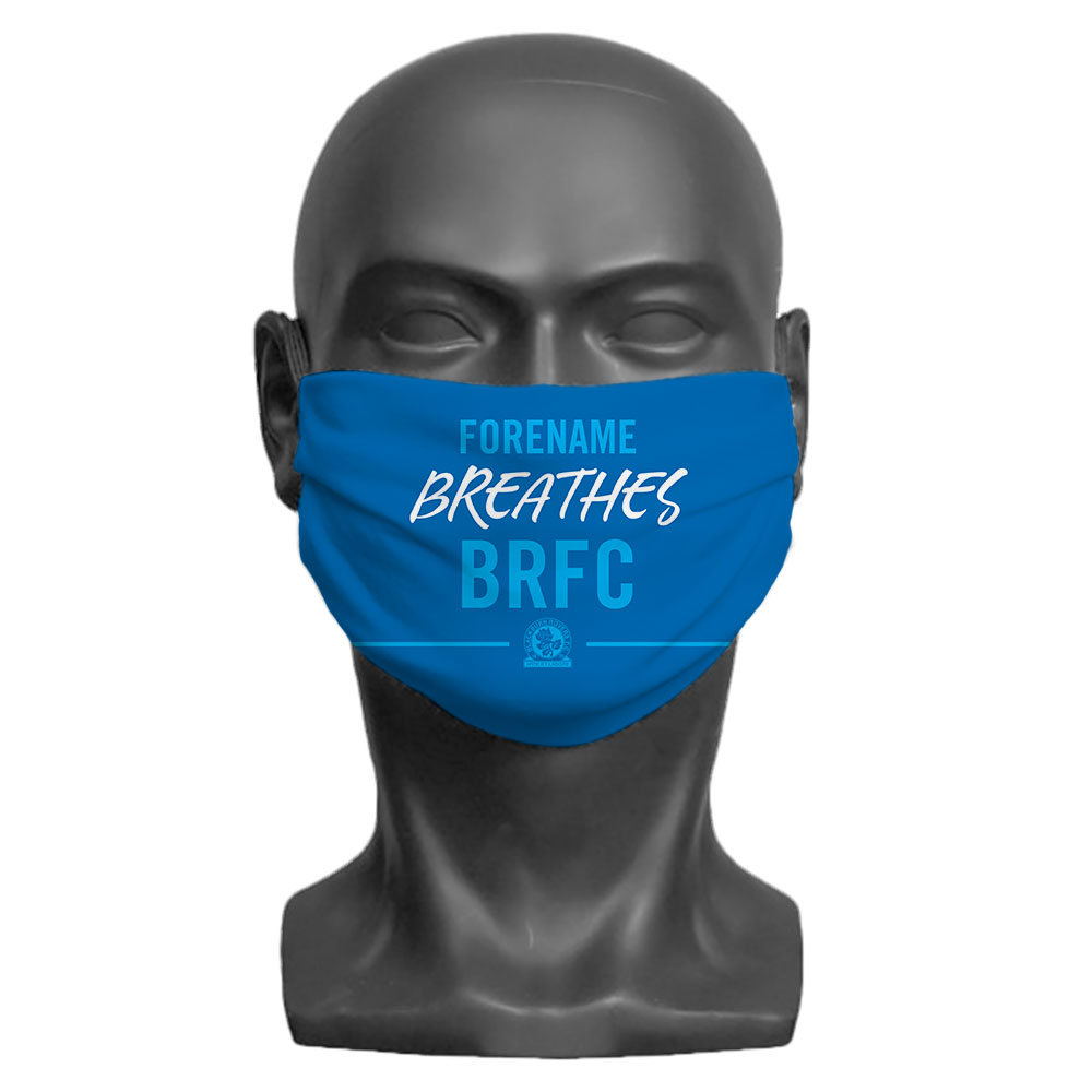 Blackburn Rovers FC Breathes Adult Face Mask (Large)