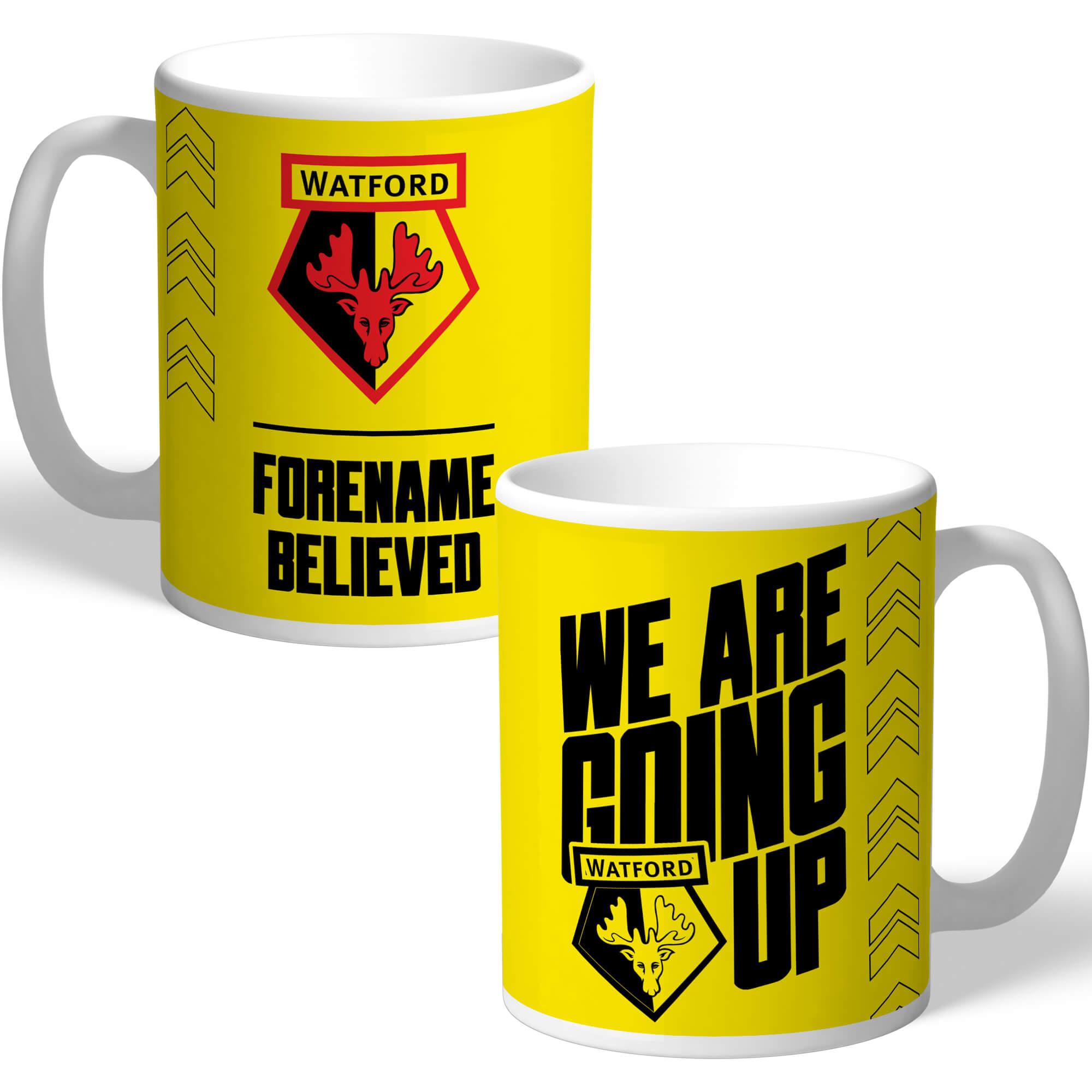 Watford FC We Are Going Up Mug