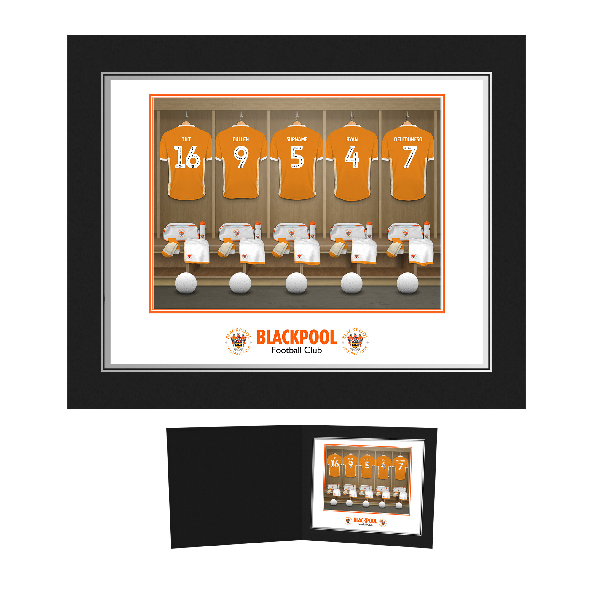Blackpool FC Dressing Room Photo Folder