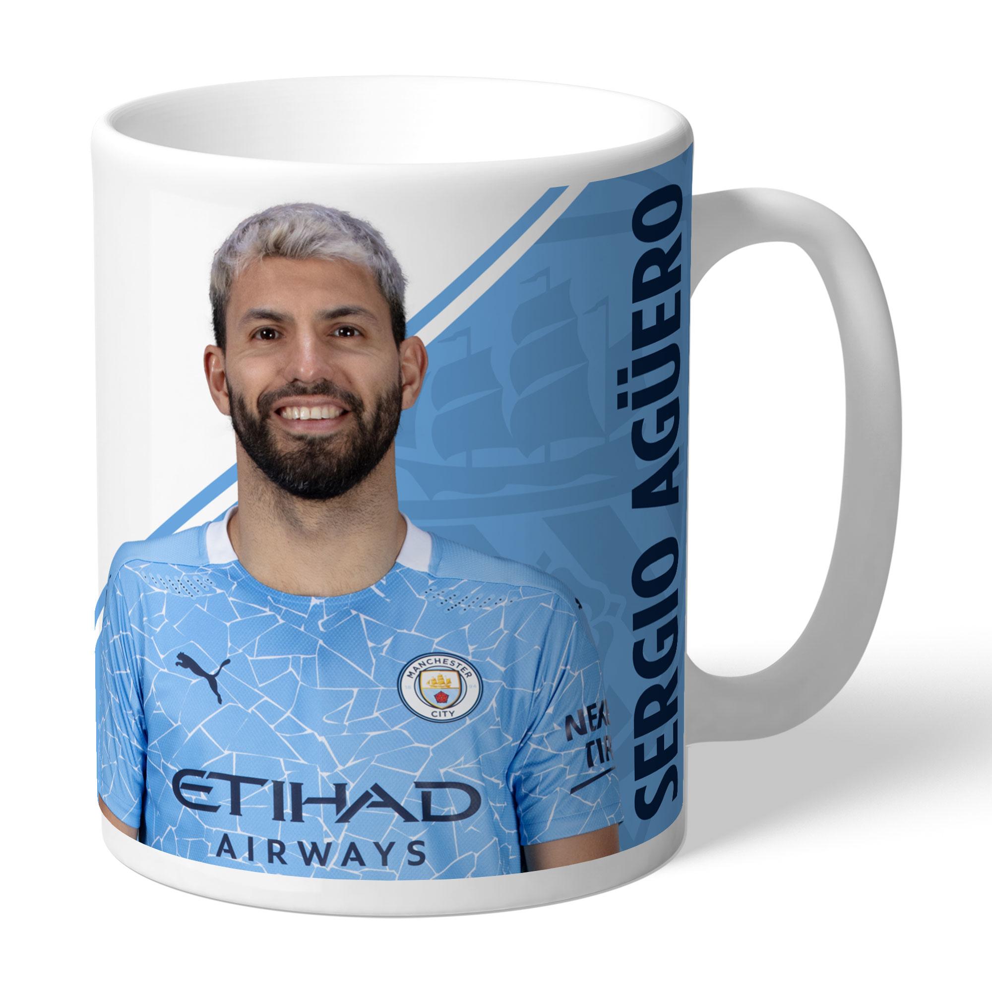 Manchester City FC Aguero Autograph Mug
