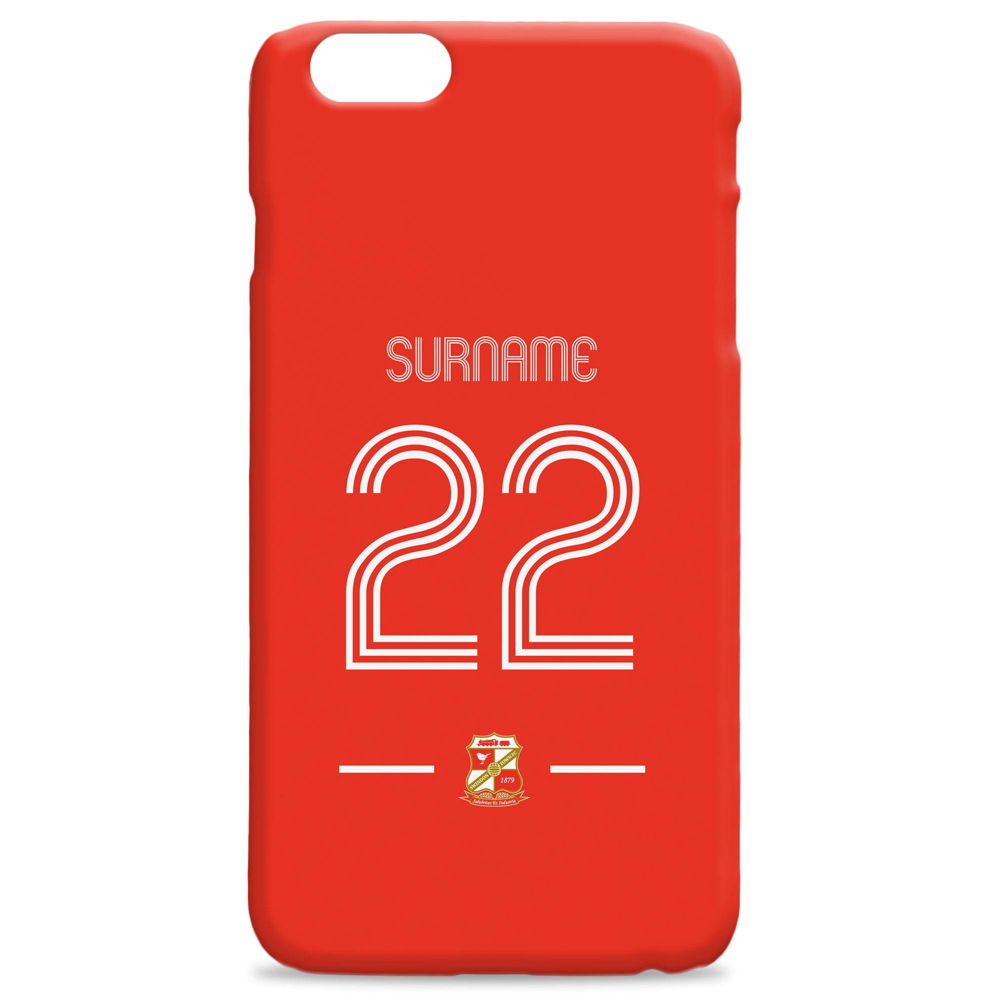 Swindon Town Retro Shirt Hard Back Phone Case