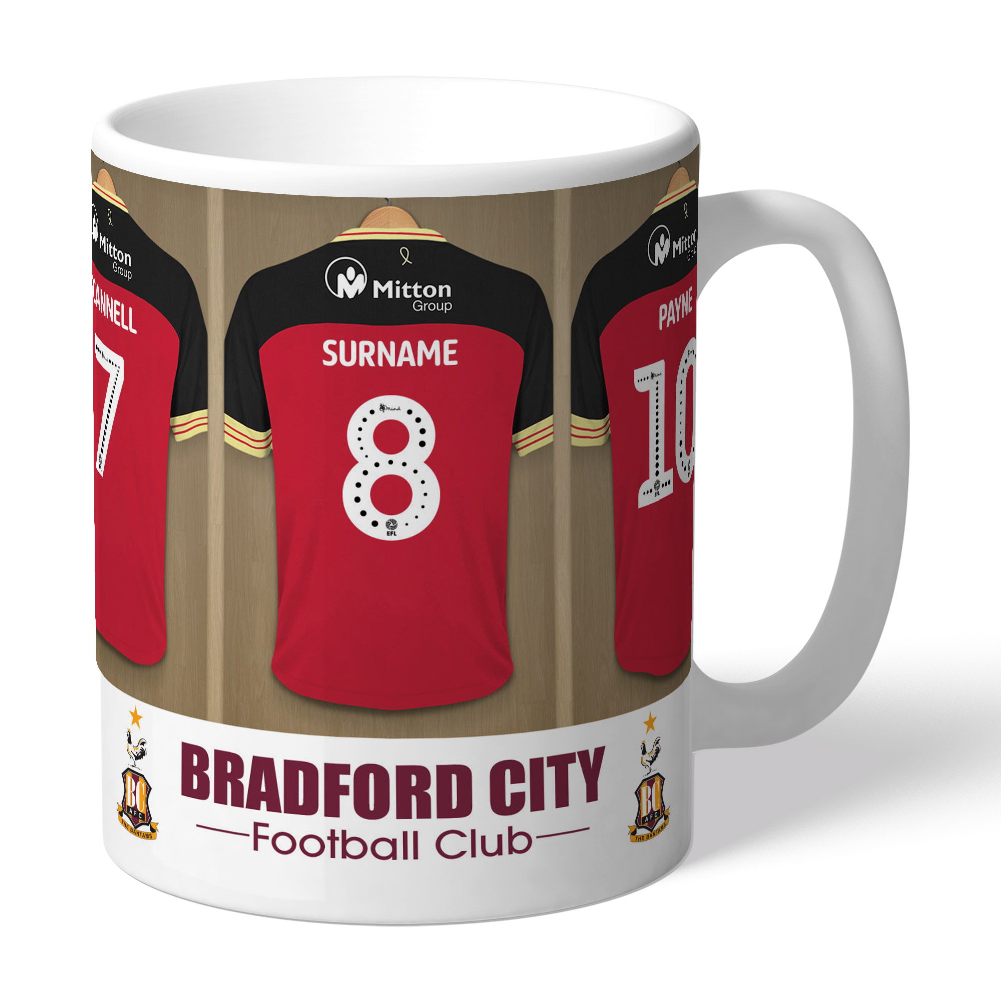 Bradford City AFC Dressing Room Mug
