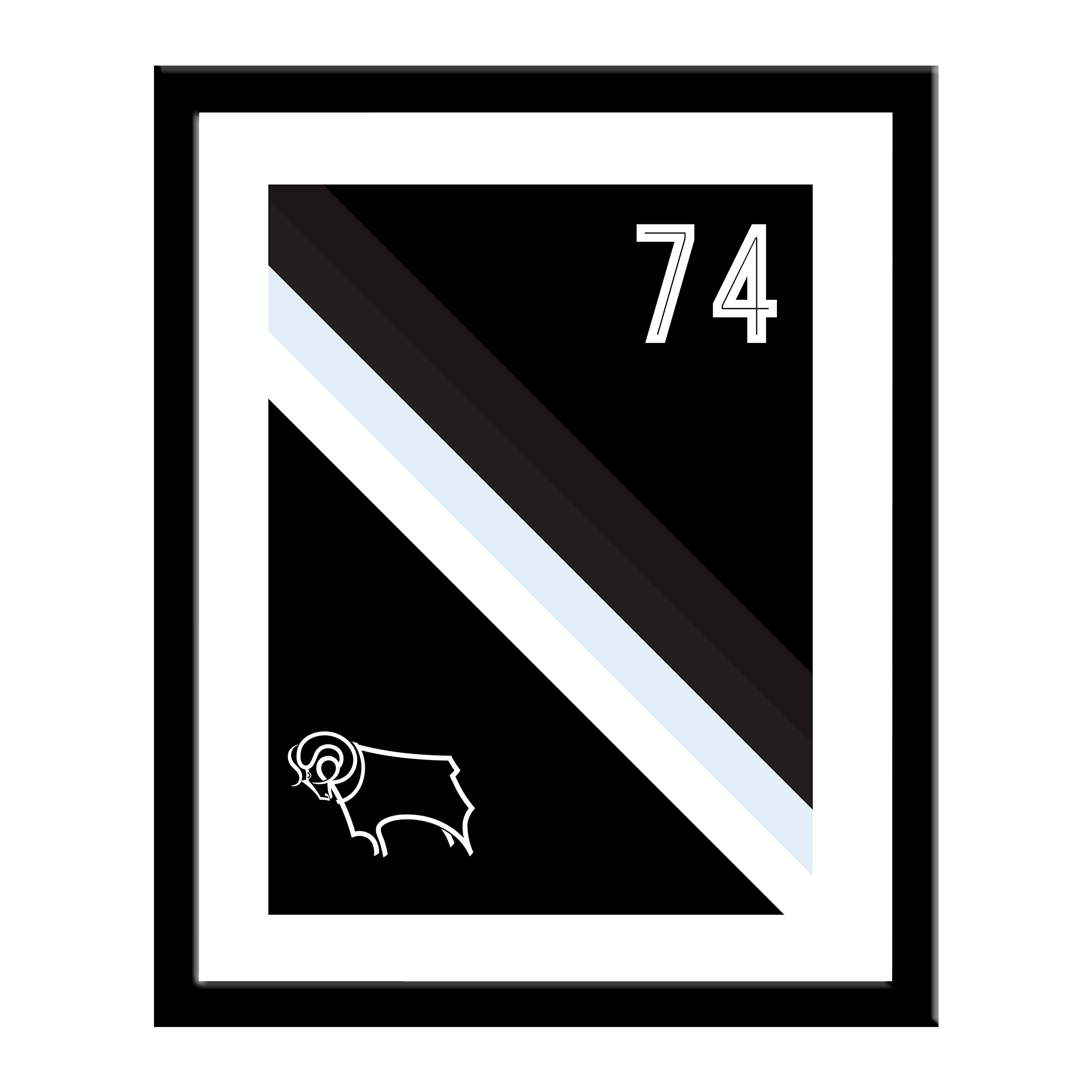 Derby County Stripe Print