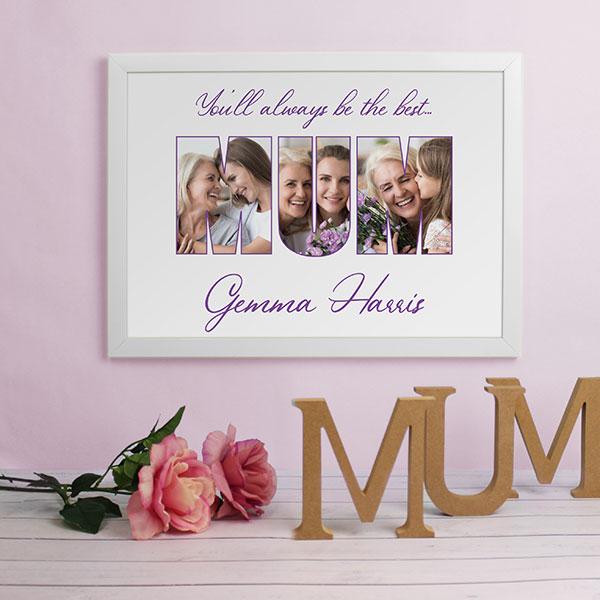 MUM Photo Gift - A3 Framed Print - white