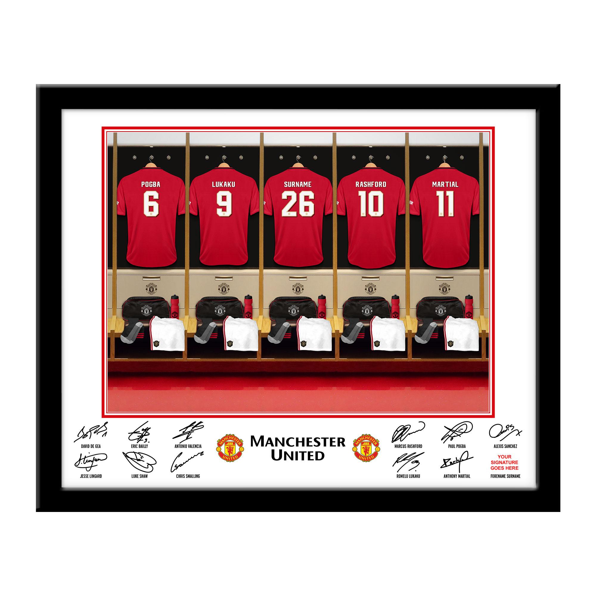 Manchester United FC Dressing Room Framed Print
