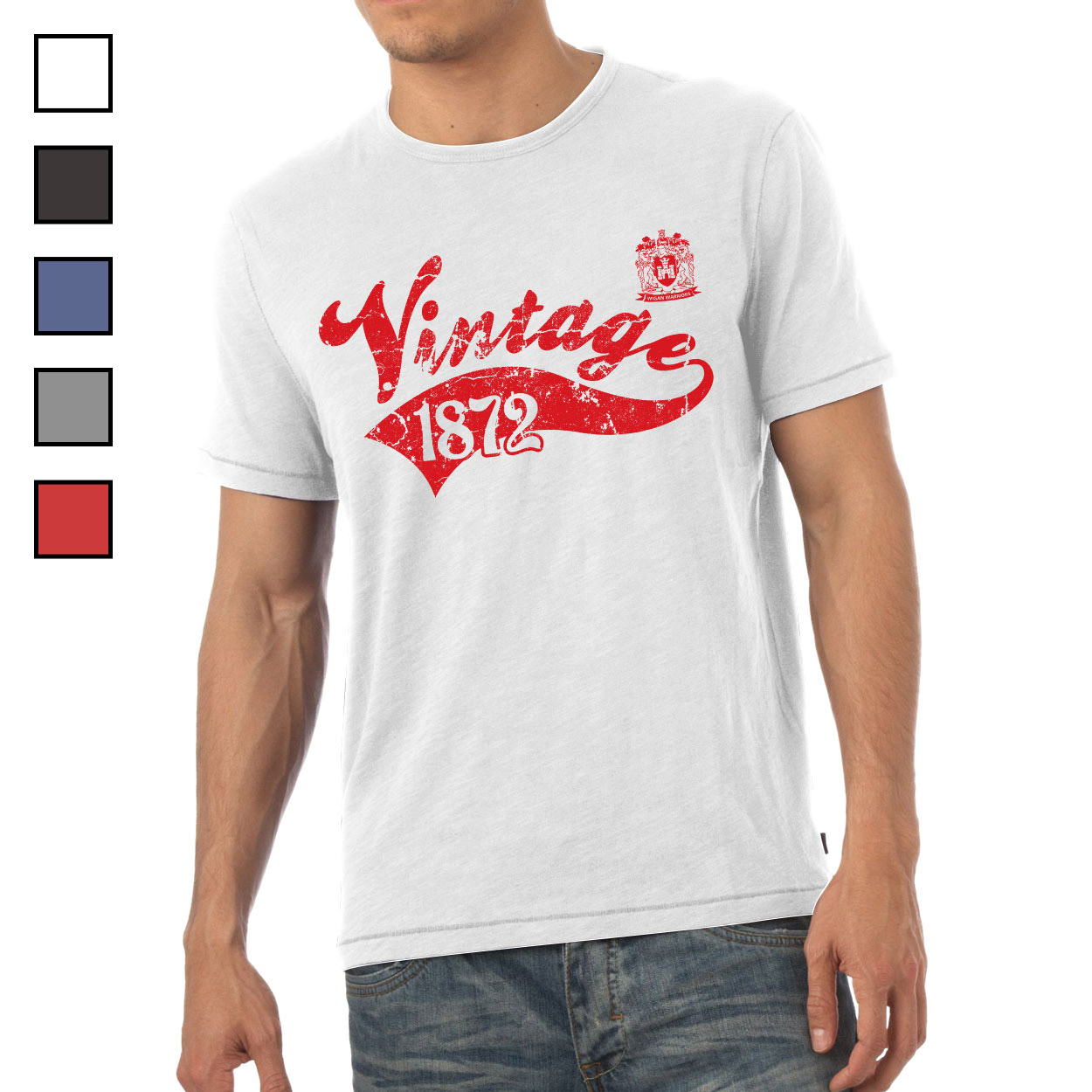 Wigan Warriors Mens Vintage T-Shirt