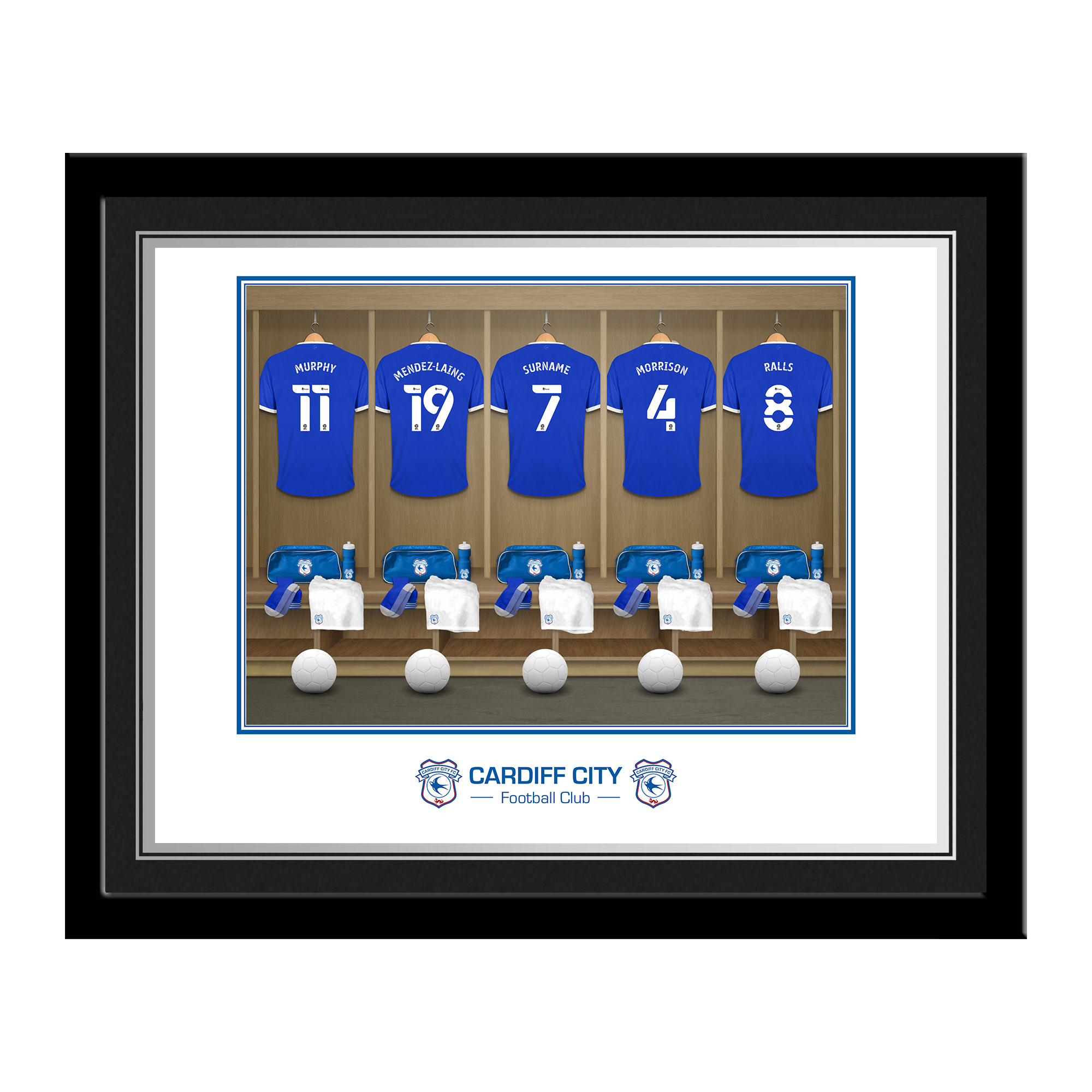 Cardiff City Dressing Room Photo Framed