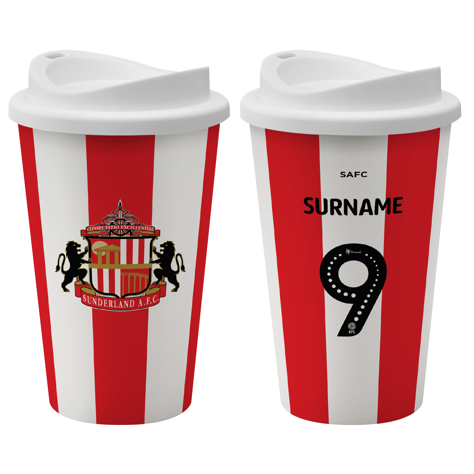 Sunderland AFC Back of Shirt Reusable Cup