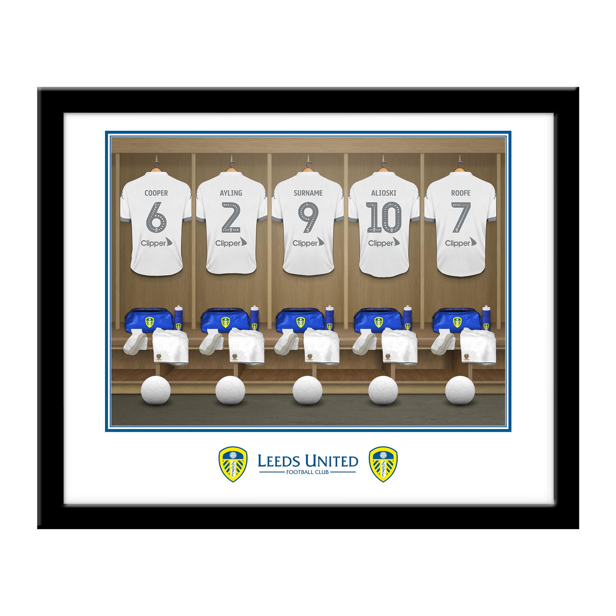 Leeds United FC Dressing Room Framed Print