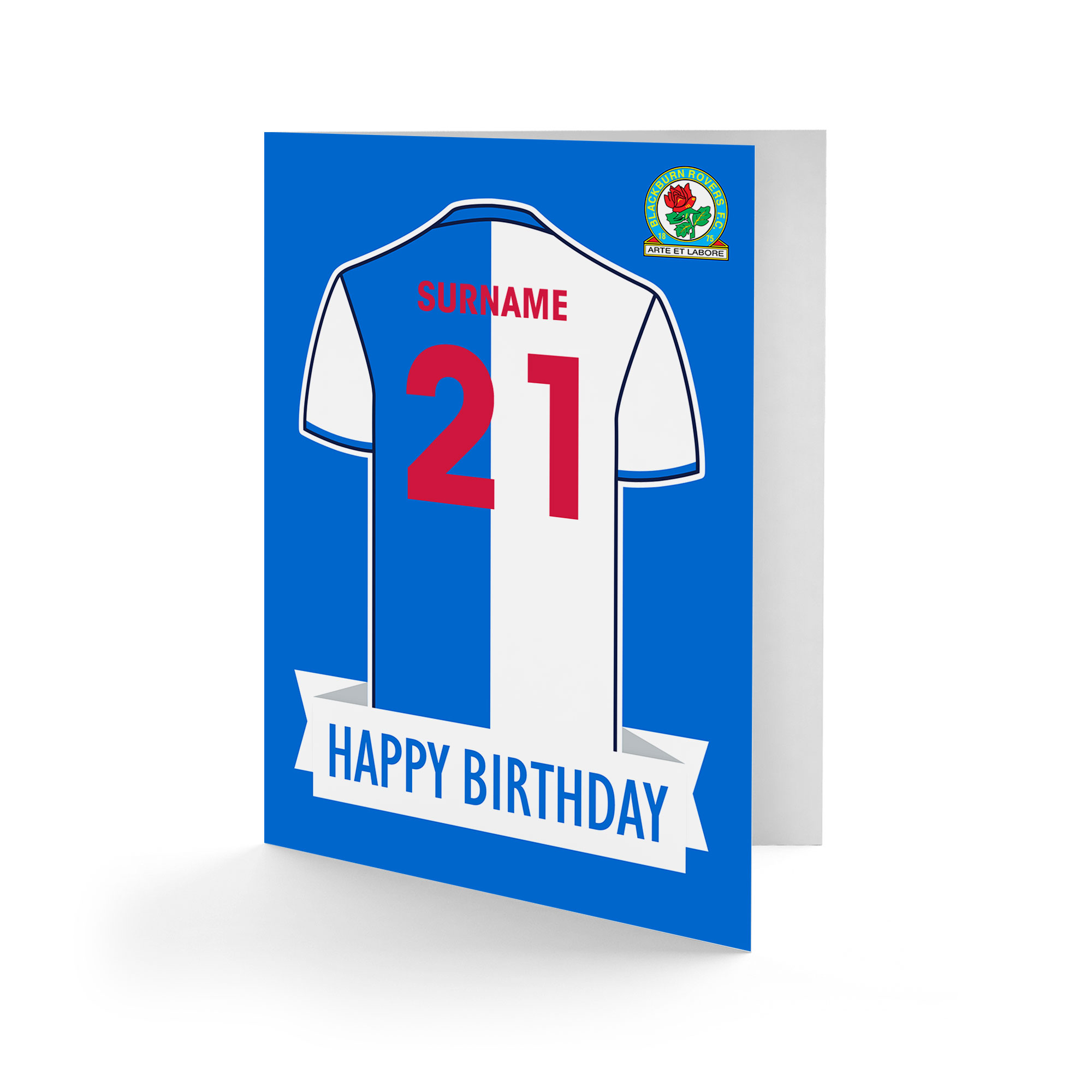 Blackburn Rovers FC Shirt Birthday Card