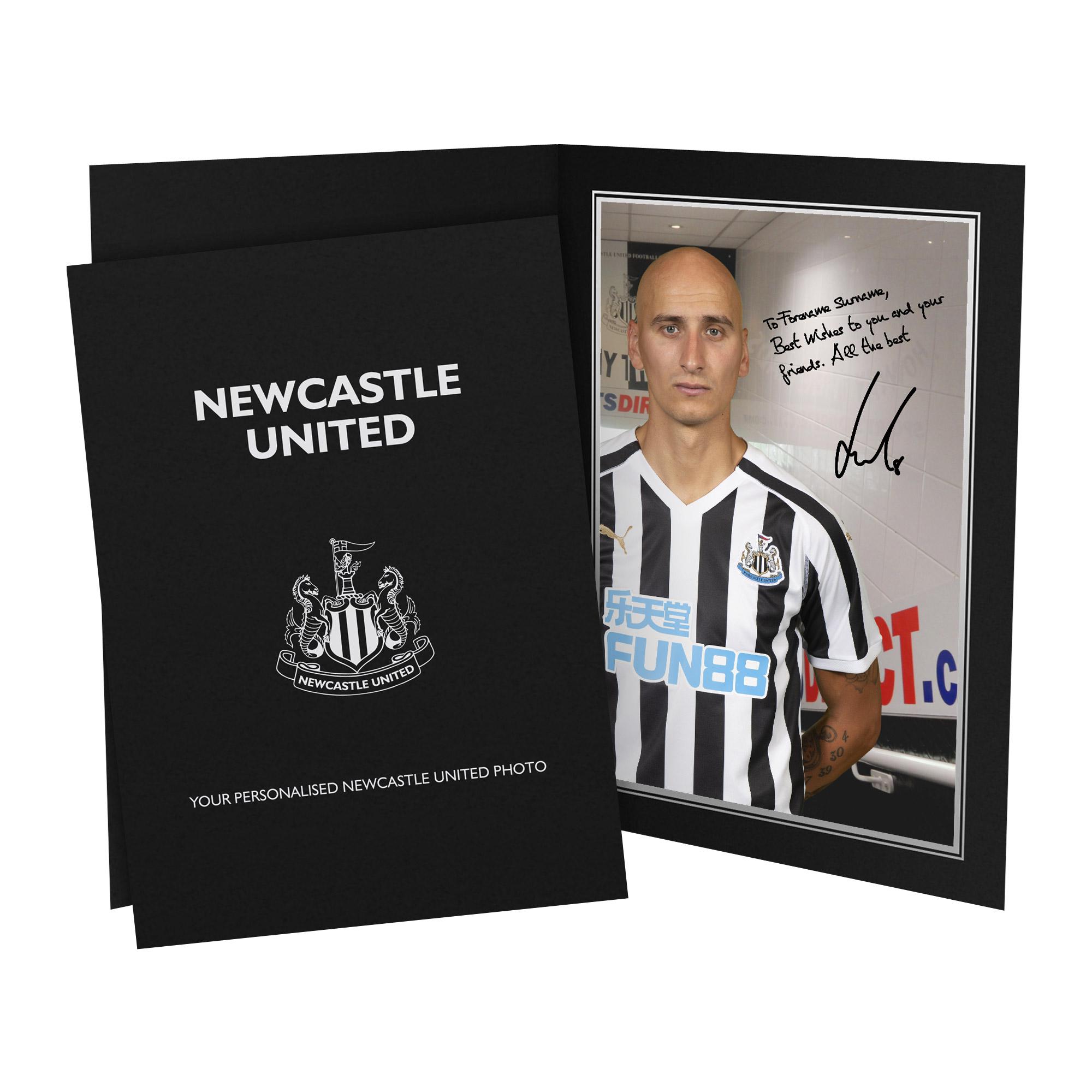 Newcastle United FC Shelvey Autograph Photo Folder