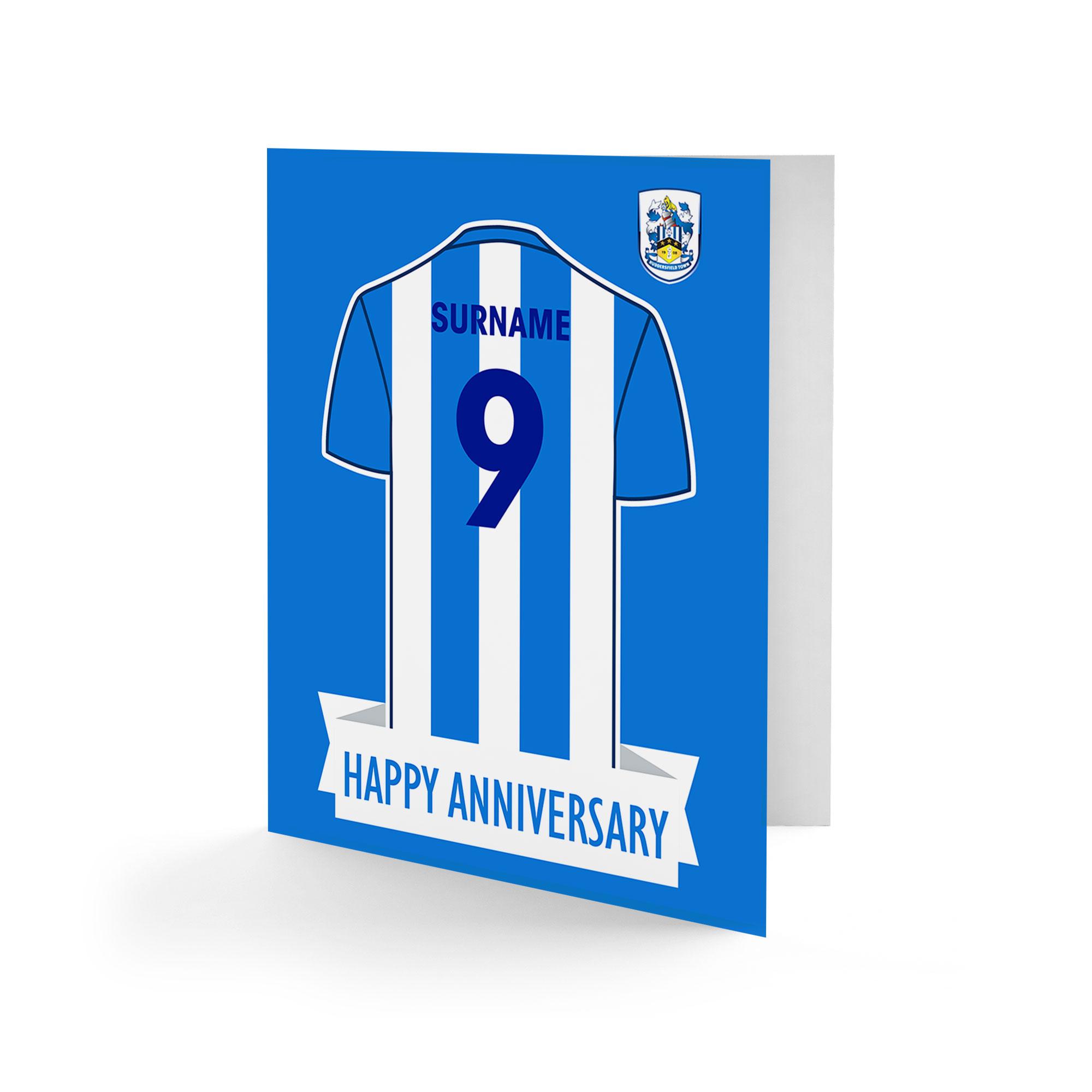 Huddersfield Town Shirt Anniversary Card