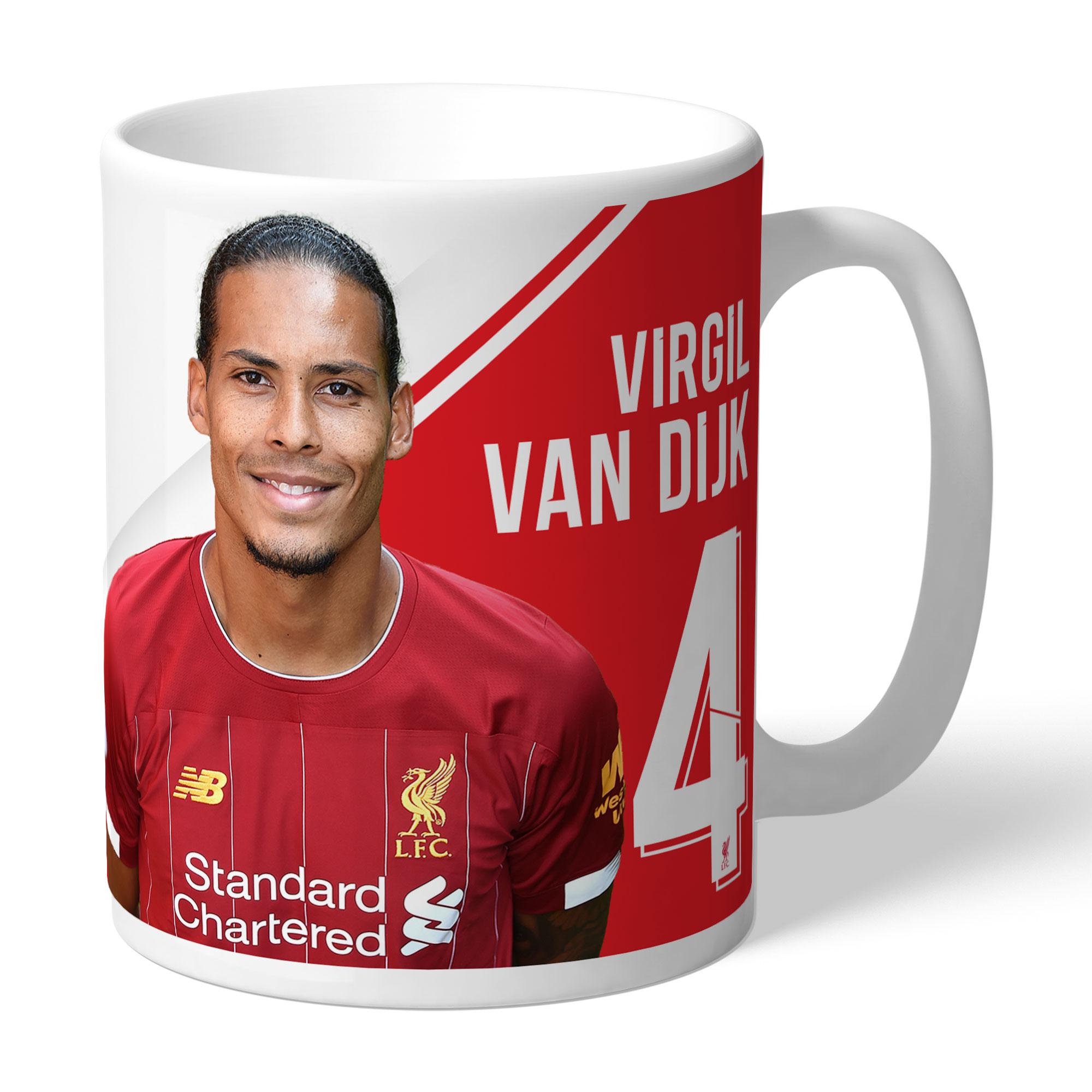 Liverpool FC Van Dijk Autograph Mug