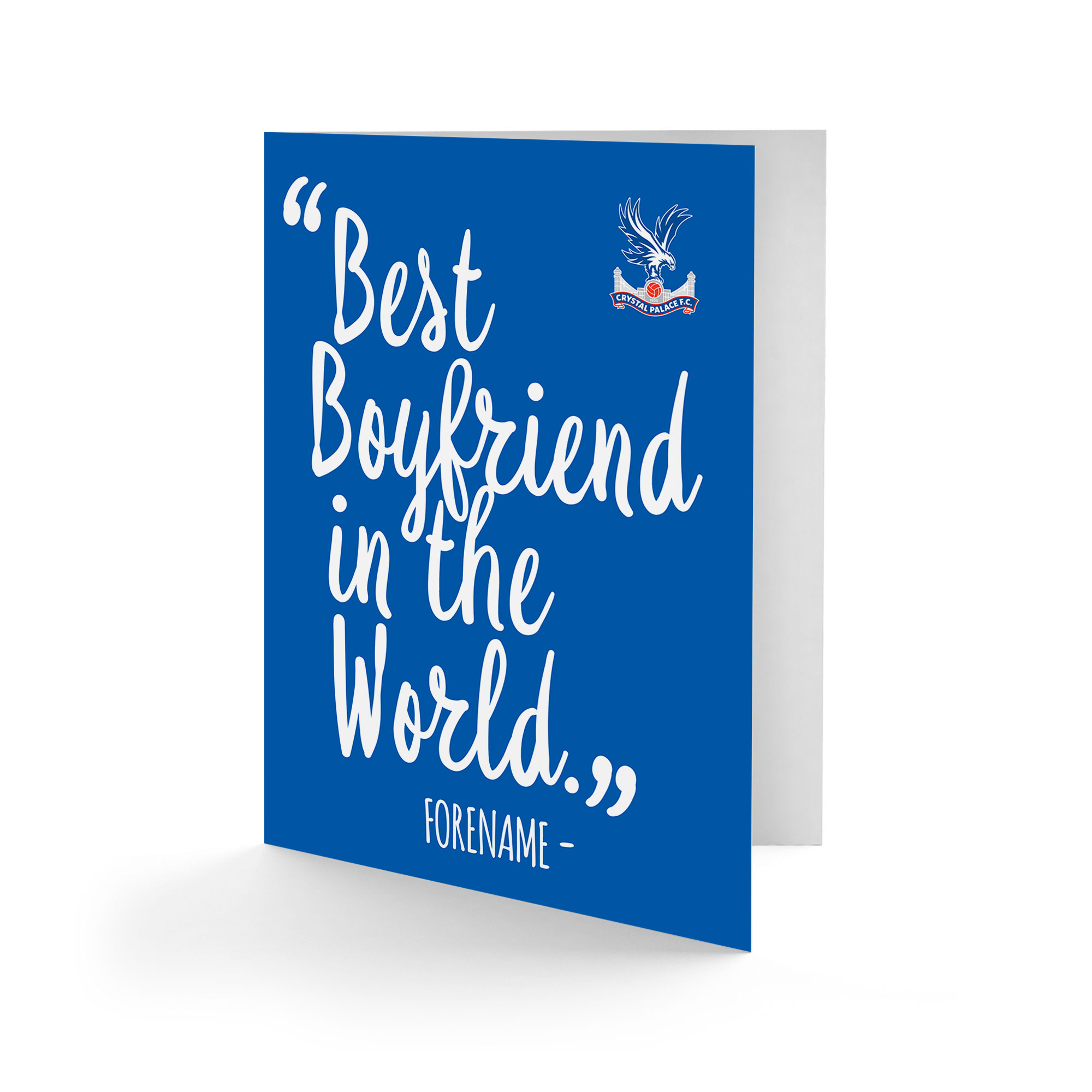 Crystal Palace FC Best Boyfriend In The World Card