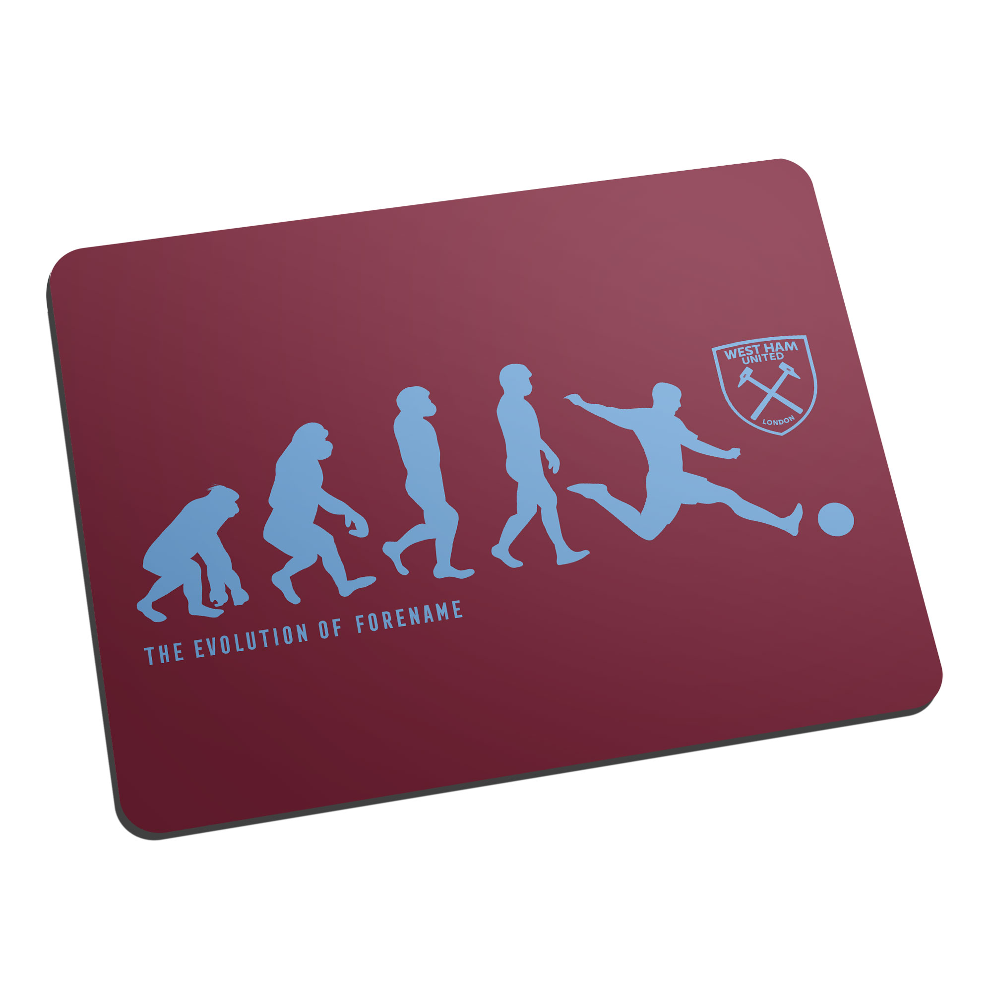 West Ham United FC Evolution Mouse Mat